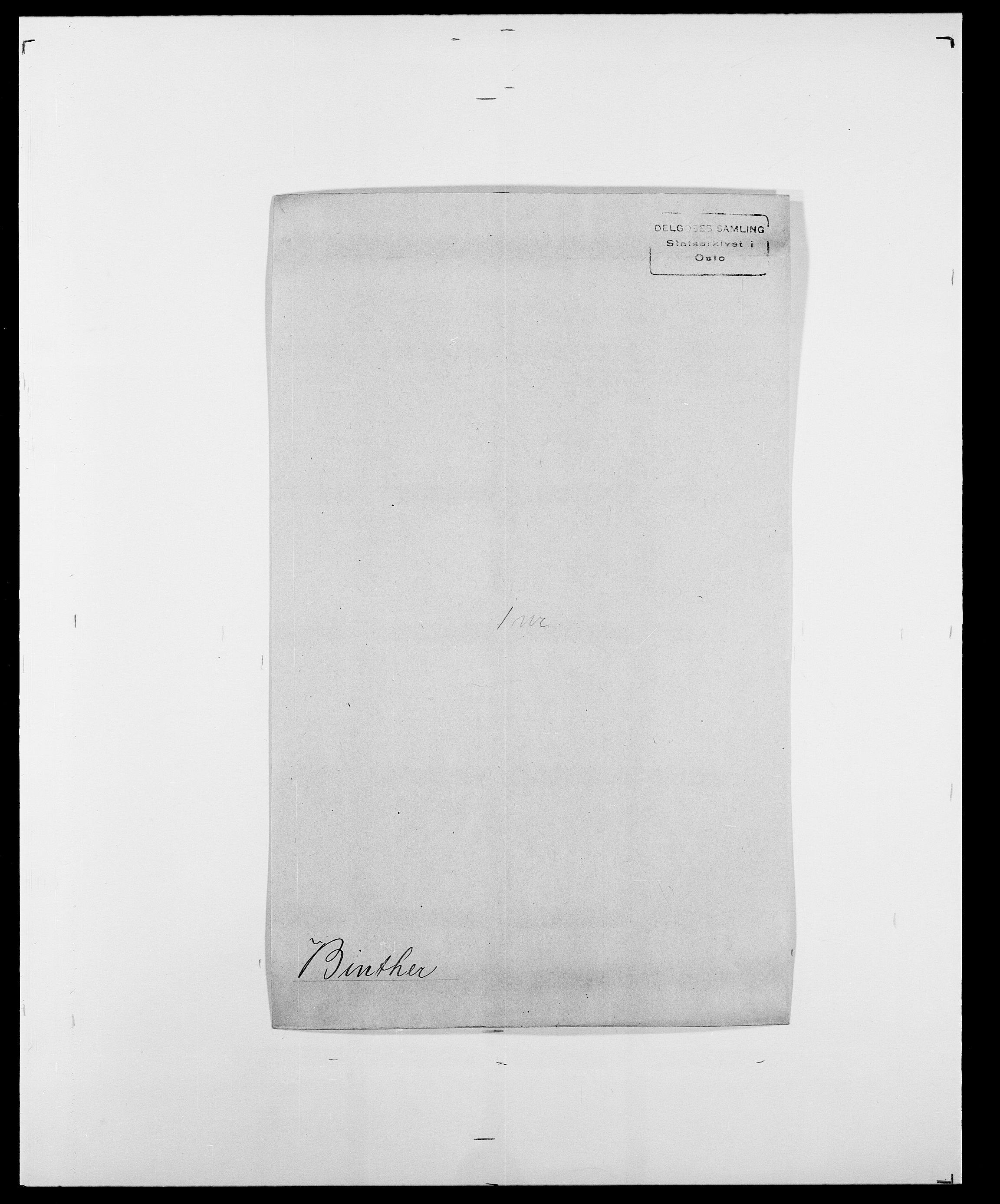 SAO, Delgobe, Charles Antoine - samling, D/Da/L0004: Bergendahl - Blære, s. 323