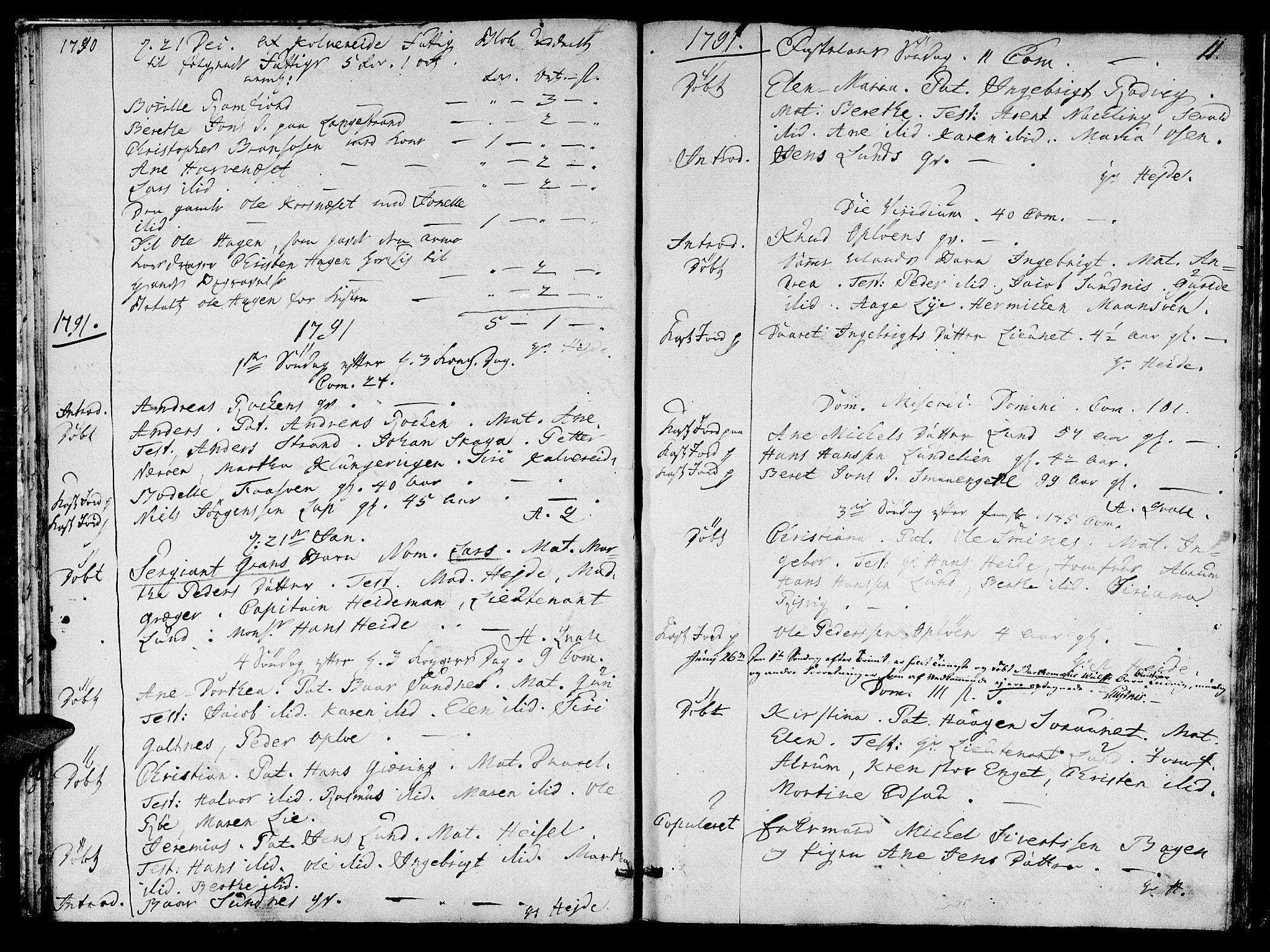 SAT, Ministerialprotokoller, klokkerbøker og fødselsregistre - Nord-Trøndelag, 780/L0633: Ministerialbok nr. 780A02 /1, 1787-1814, s. 11