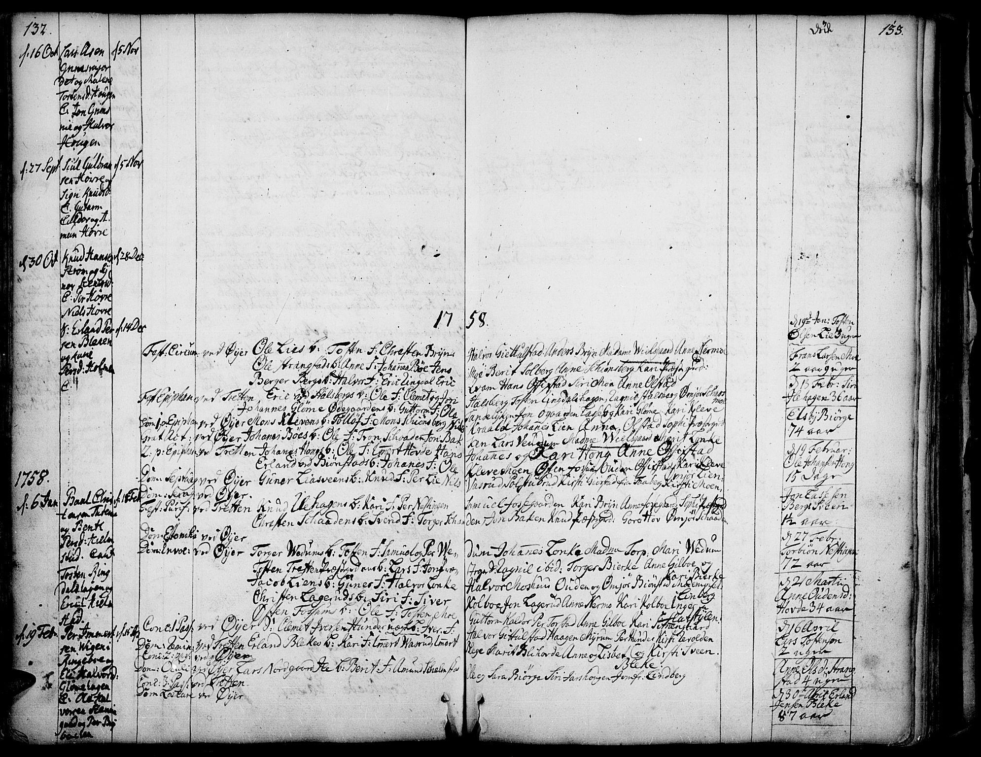SAH, Øyer prestekontor, Ministerialbok nr. 2, 1733-1784, s. 132-133