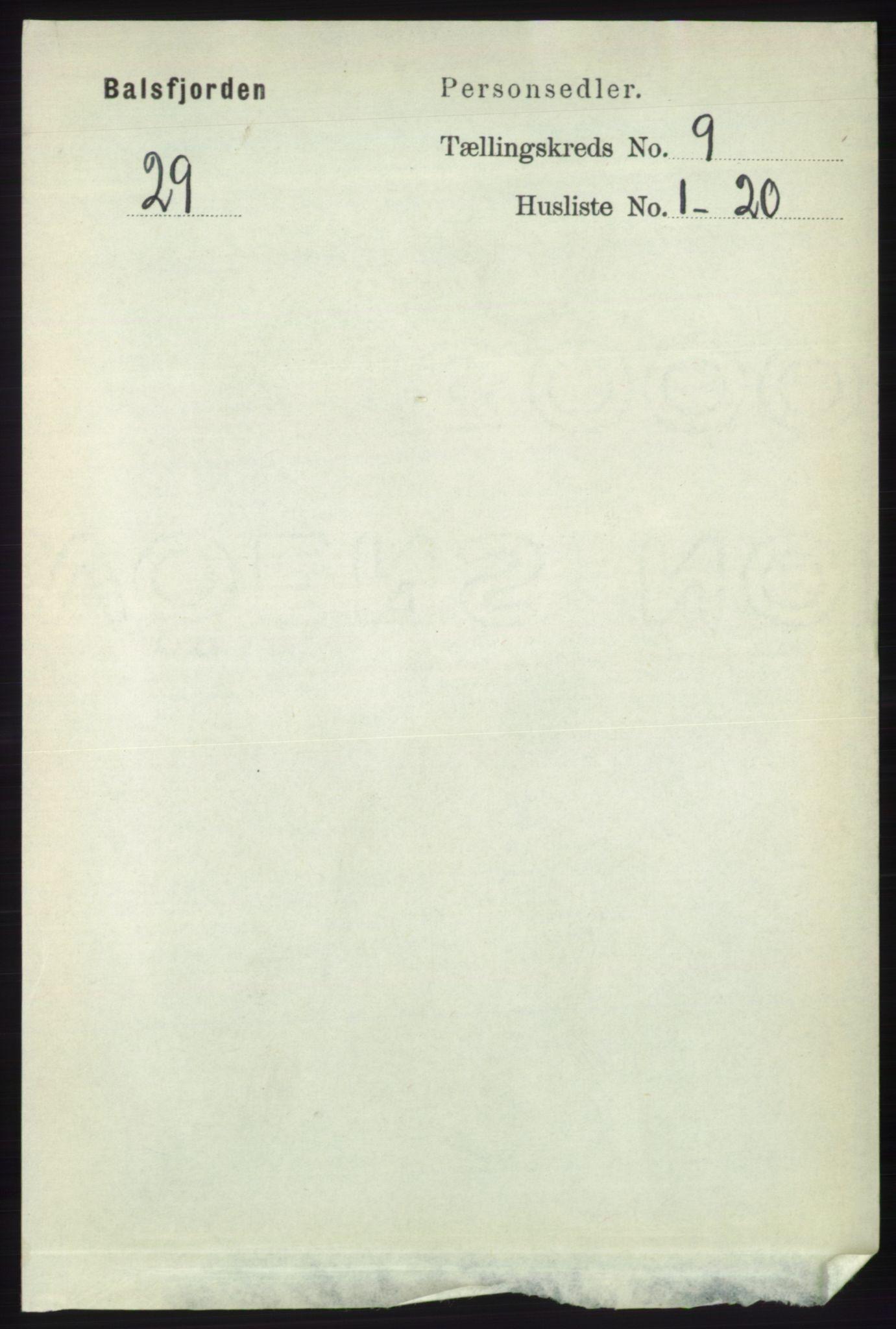 RA, Folketelling 1891 for 1933 Balsfjord herred, 1891, s. 3113