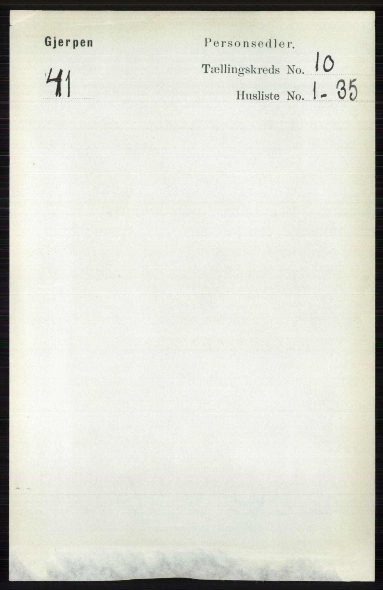 RA, Folketelling 1891 for 0812 Gjerpen herred, 1891, s. 6136