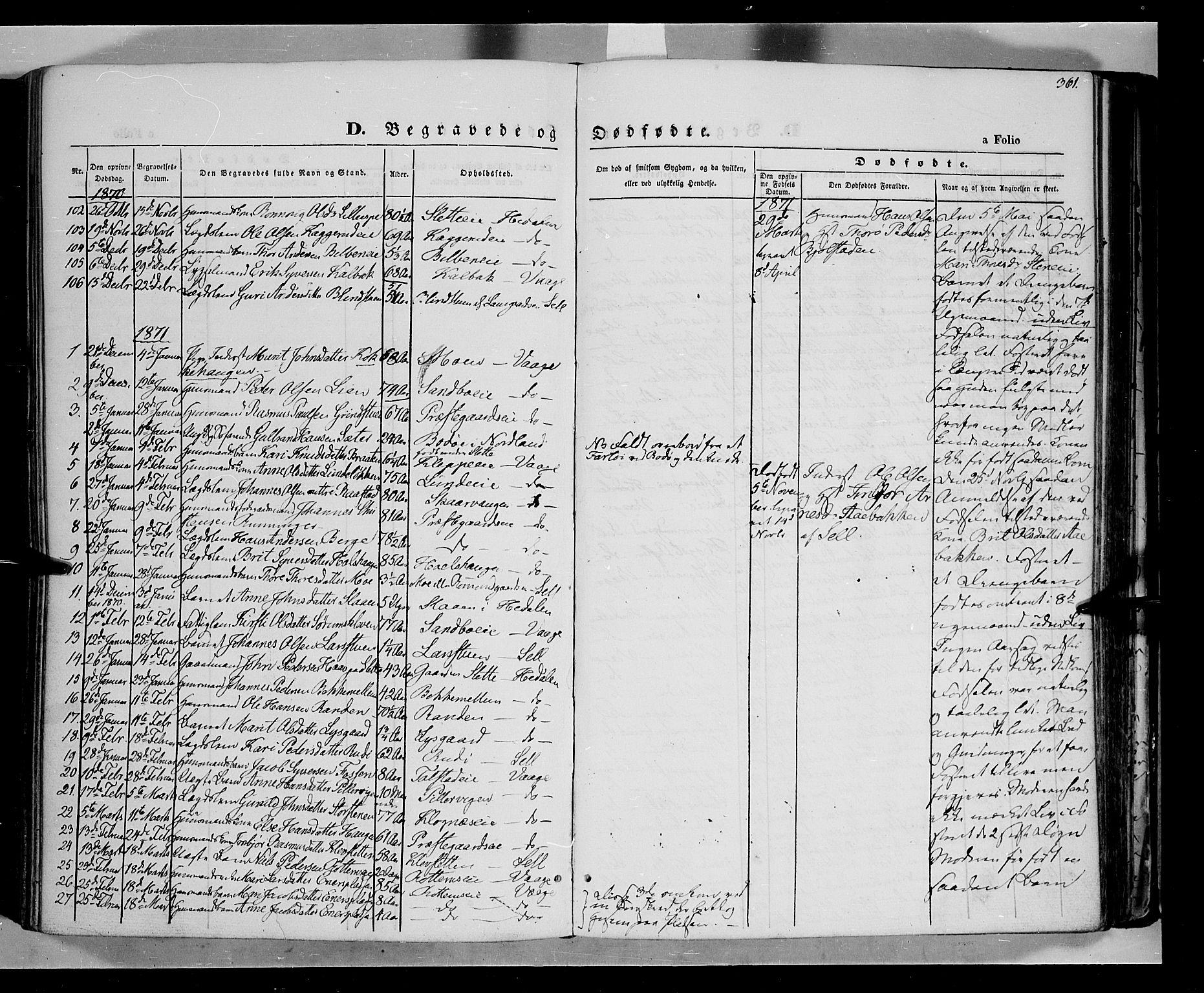 SAH, Vågå prestekontor, Ministerialbok nr. 6 /1, 1856-1872, s. 361