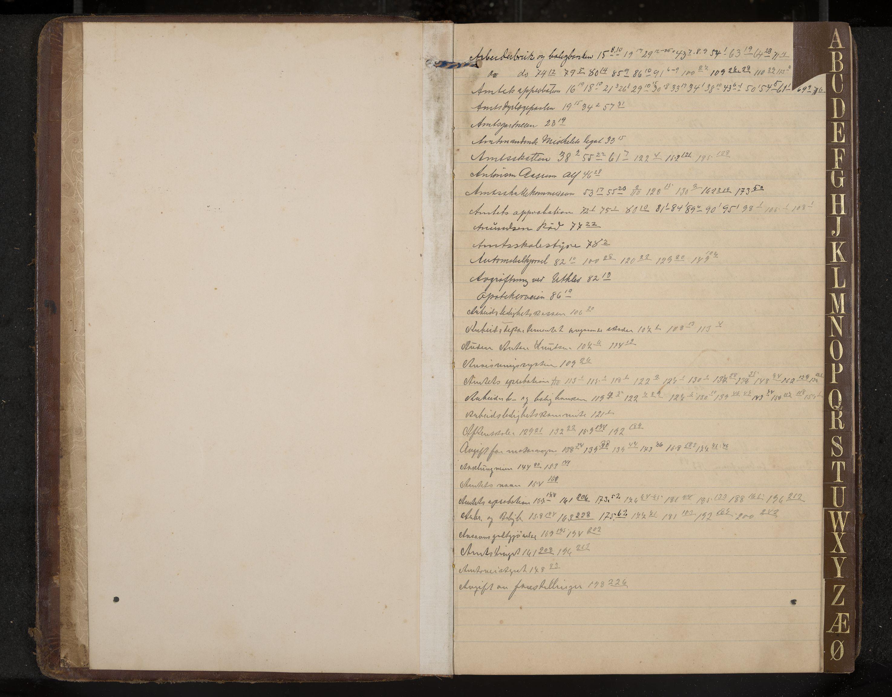 IKAK, Hedrum formannskap, Aa/L0006: Møtebok med register, 1911-1916, s. 1