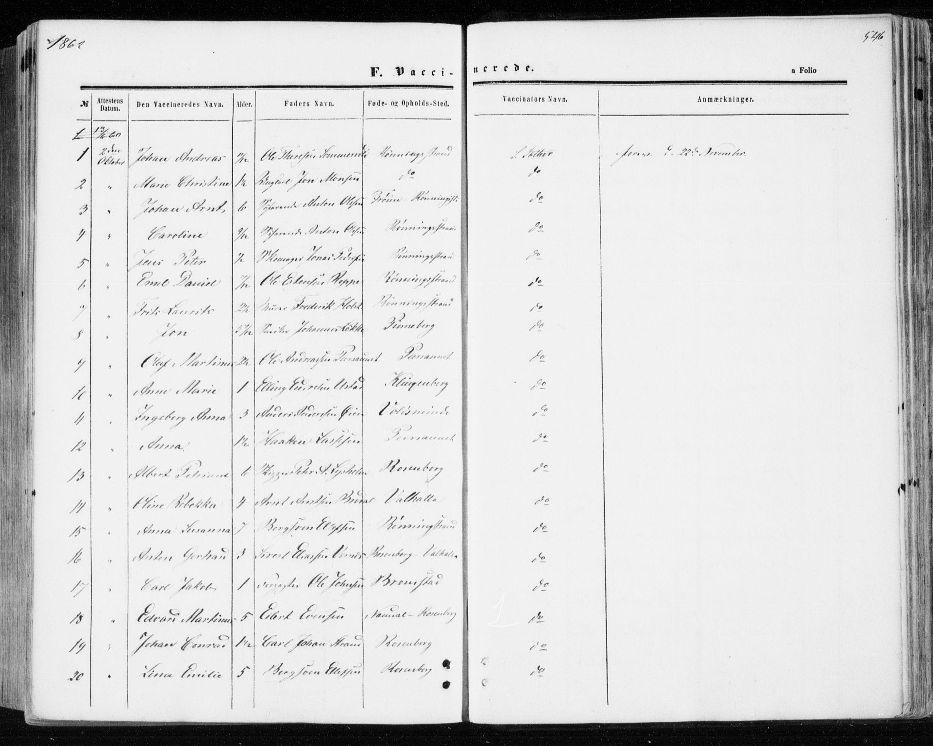 SAT, Ministerialprotokoller, klokkerbøker og fødselsregistre - Sør-Trøndelag, 606/L0292: Ministerialbok nr. 606A07, 1856-1865, s. 546