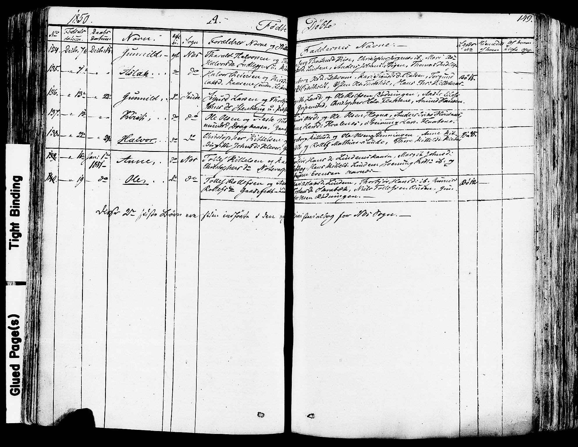 SAKO, Sauherad kirkebøker, F/Fa/L0006: Ministerialbok nr. I 6, 1827-1850, s. 149