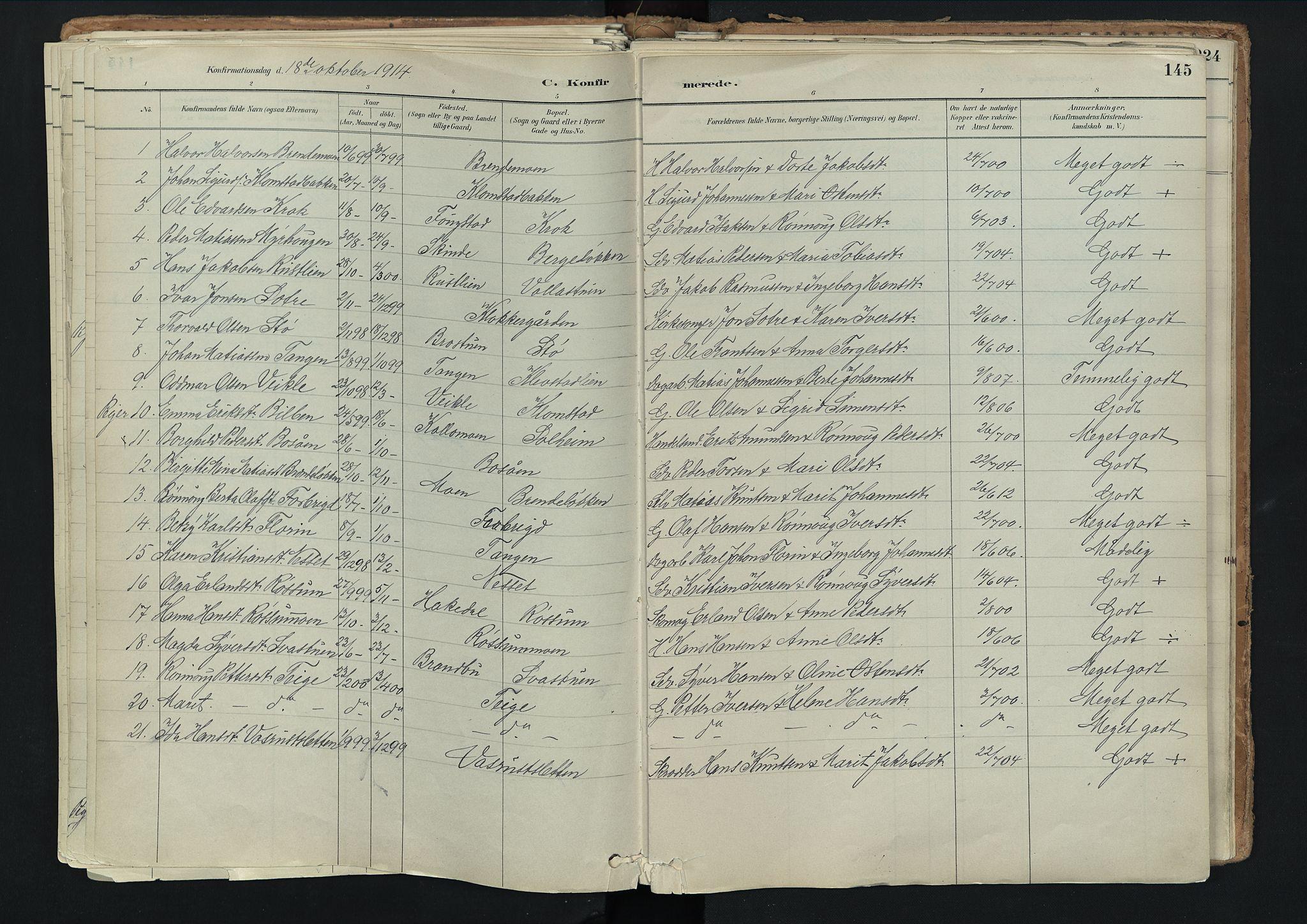 SAH, Nord-Fron prestekontor, Ministerialbok nr. 3, 1884-1914, s. 145