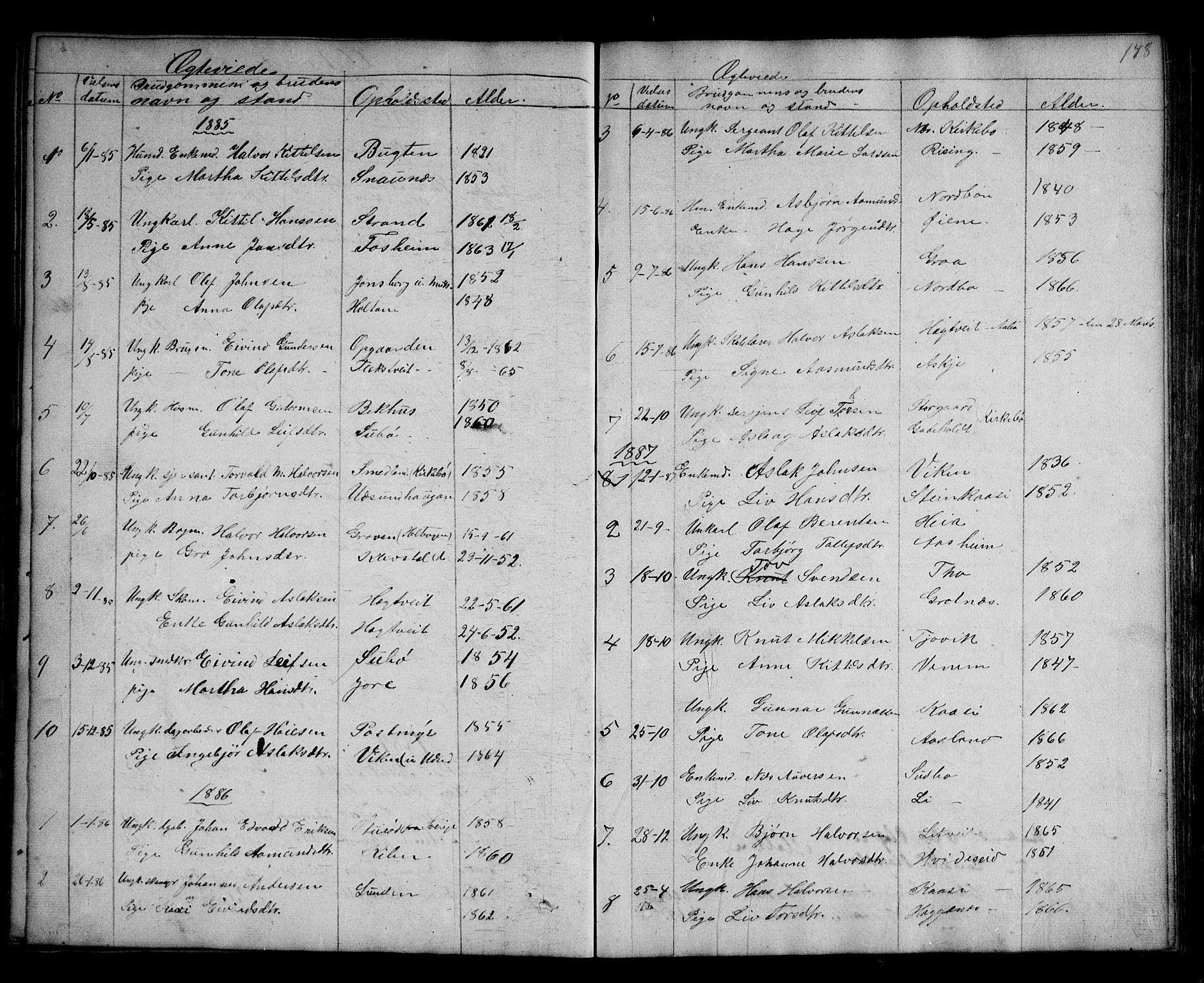 SAKO, Kviteseid kirkebøker, G/Ga/L0001: Klokkerbok nr. I 1, 1850-1893, s. 178