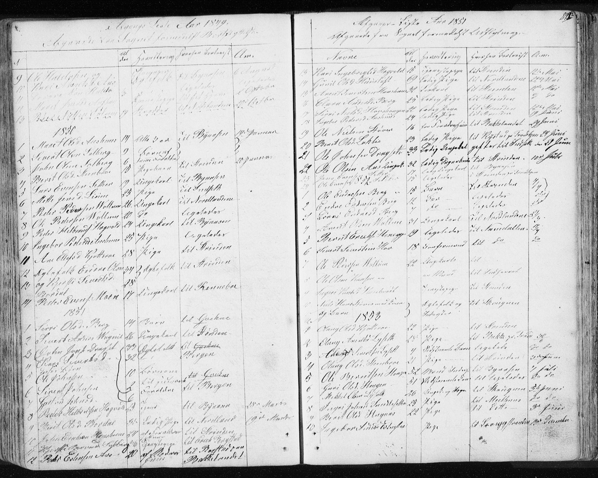 SAT, Ministerialprotokoller, klokkerbøker og fødselsregistre - Sør-Trøndelag, 689/L1043: Klokkerbok nr. 689C02, 1816-1892, s. 293