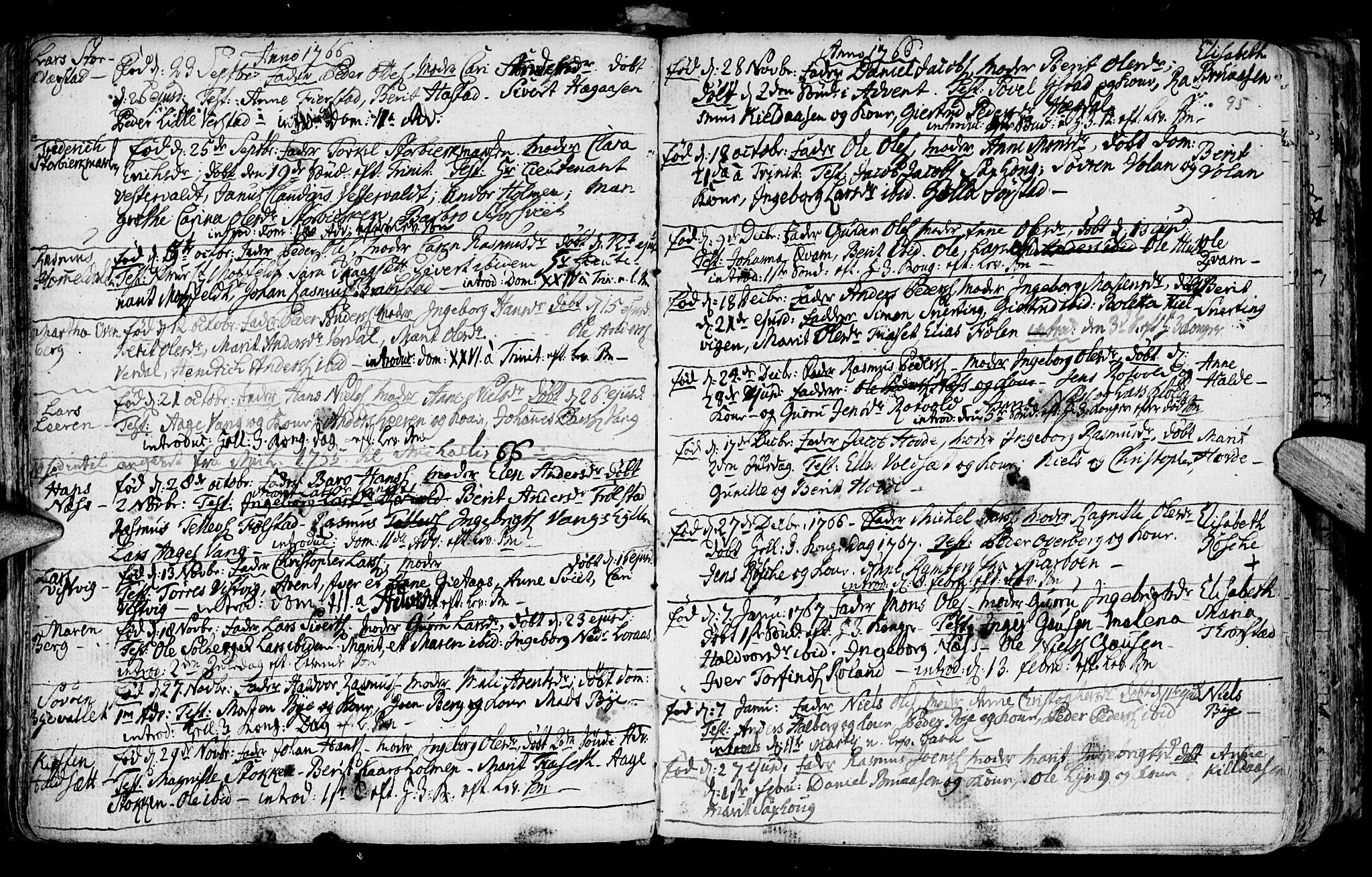 SAT, Ministerialprotokoller, klokkerbøker og fødselsregistre - Nord-Trøndelag, 730/L0273: Ministerialbok nr. 730A02, 1762-1802, s. 95