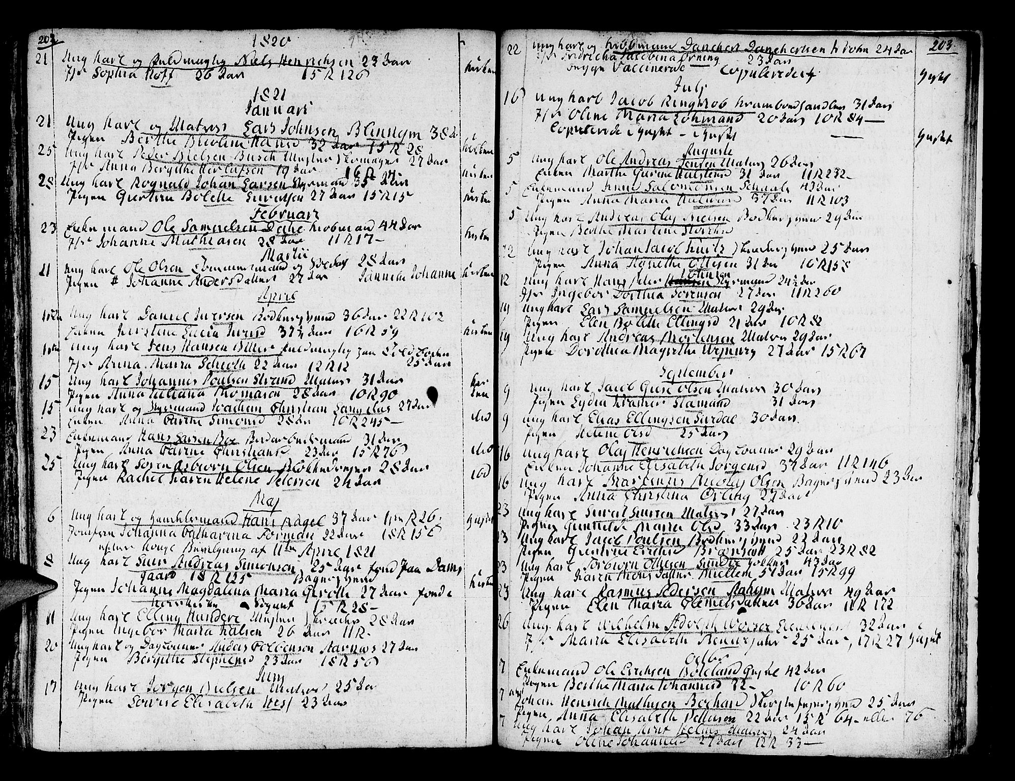 SAB, Domkirken Sokneprestembete, H/Haa/L0007: Ministerialbok nr. A 7, 1725-1826, s. 202-203