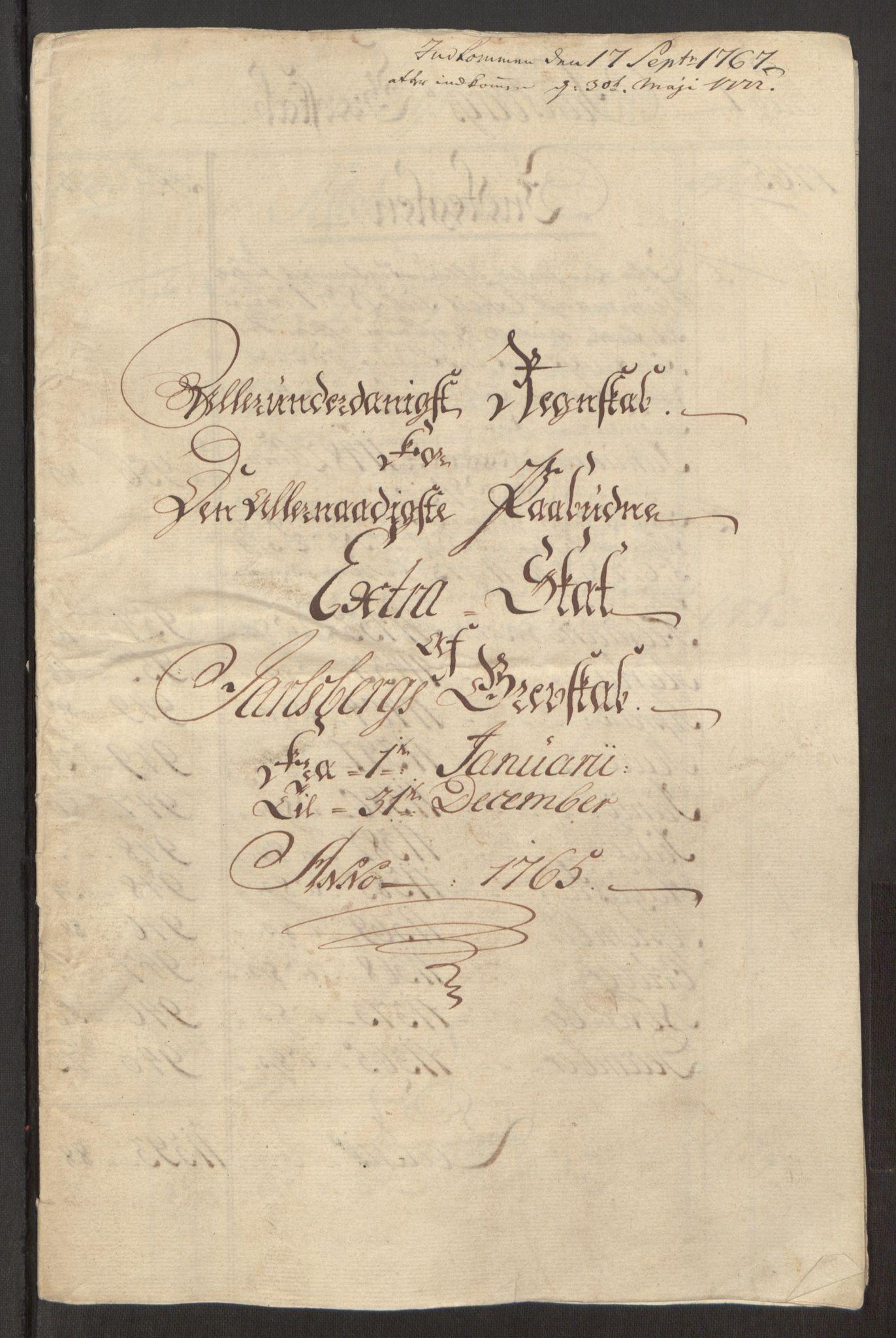 RA, Rentekammeret inntil 1814, Reviderte regnskaper, Fogderegnskap, R32/L1960: Ekstraskatten Jarlsberg grevskap, 1762-1772, s. 71