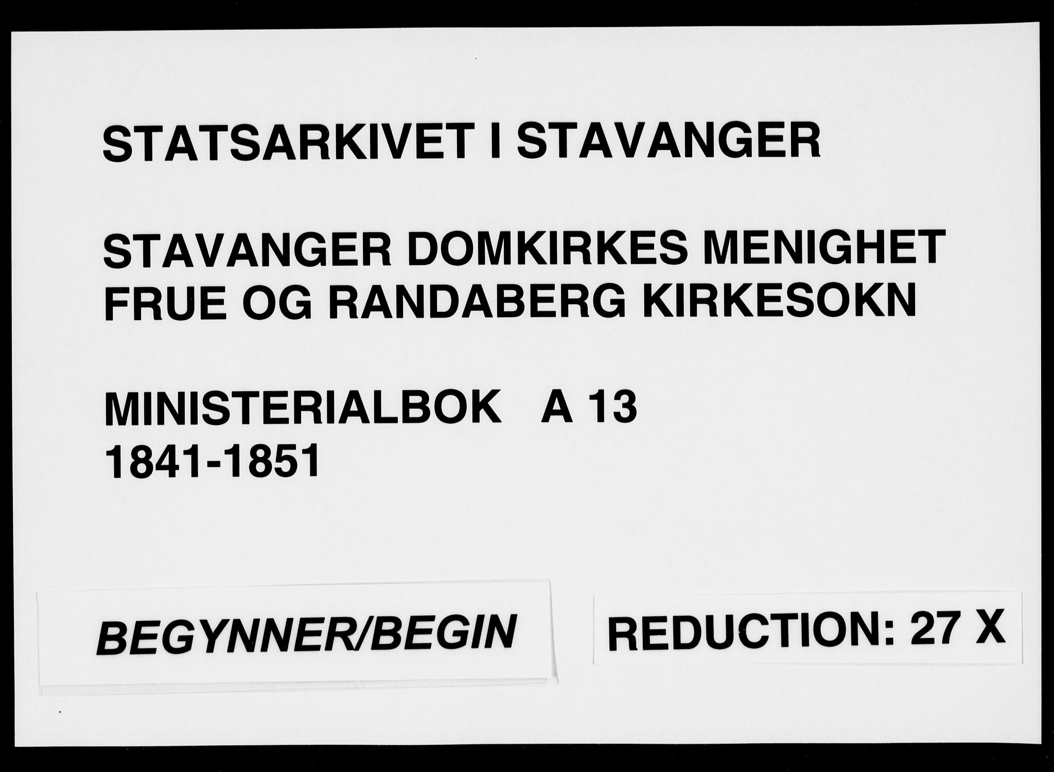 SAST, Domkirken sokneprestkontor, 30/30BA/L0014: Ministerialbok nr. A 13, 1841-1851