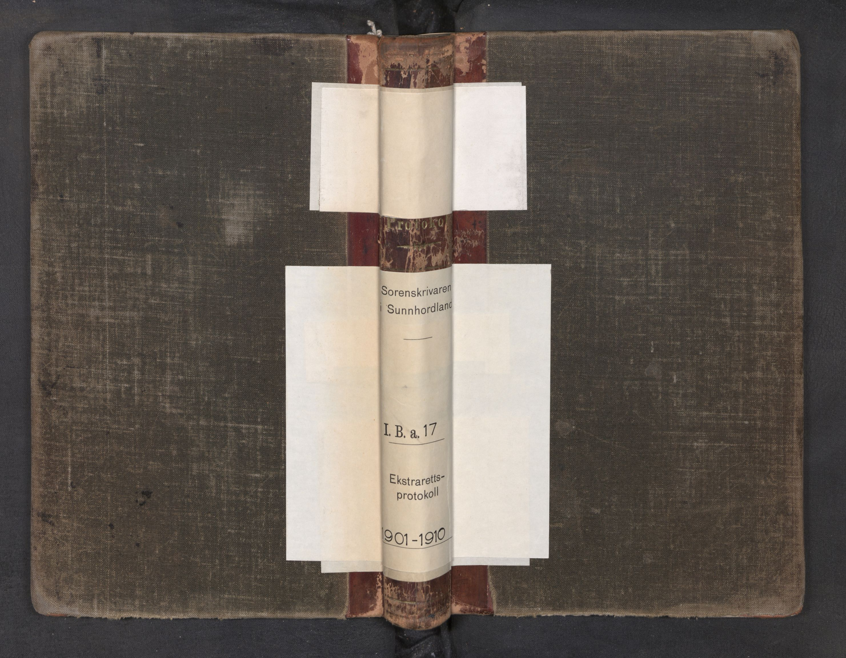 SAB, Sunnhordland sorenskrivar, F/Fb/Fba/L0017: Ekstrarettsprotokoll, 1901-1910