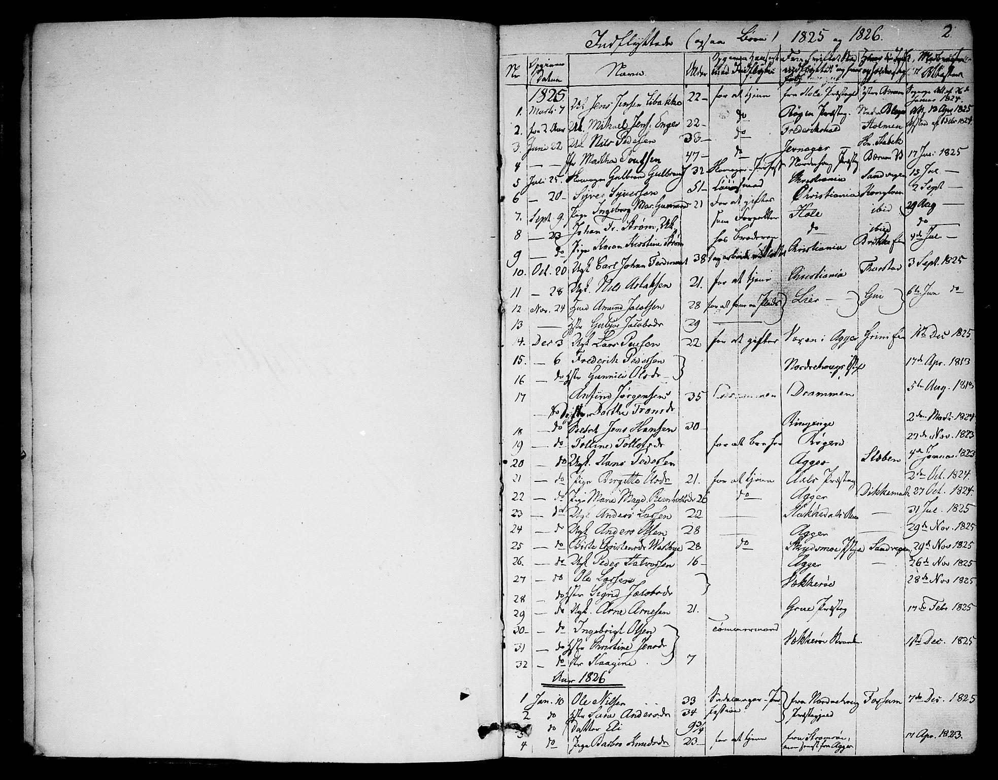 SAO, Asker prestekontor Kirkebøker, F/Fa/L0012: Ministerialbok nr. I 12, 1825-1878, s. 2