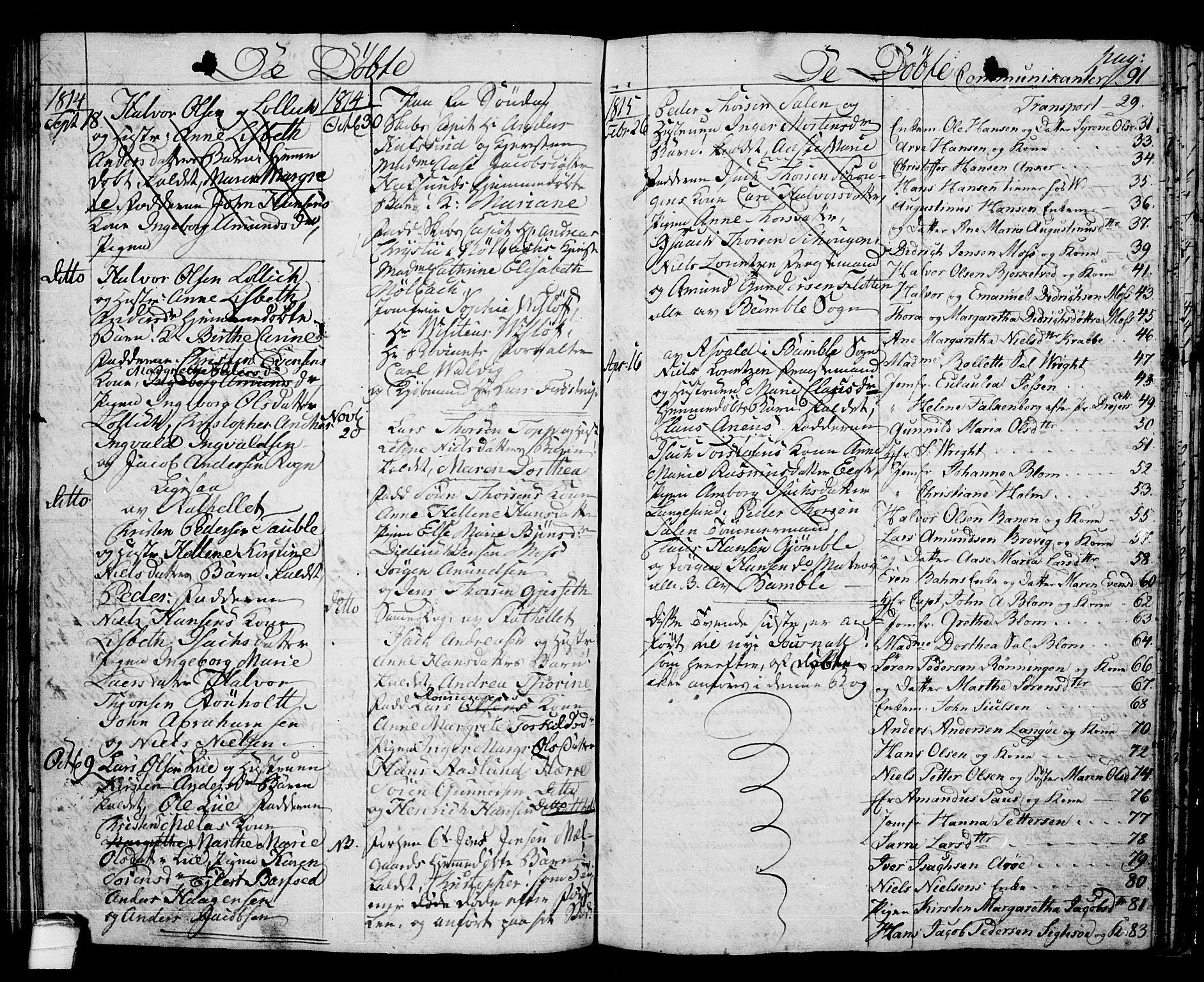 SAKO, Langesund kirkebøker, G/Ga/L0002: Klokkerbok nr. 2, 1801-1815, s. 91