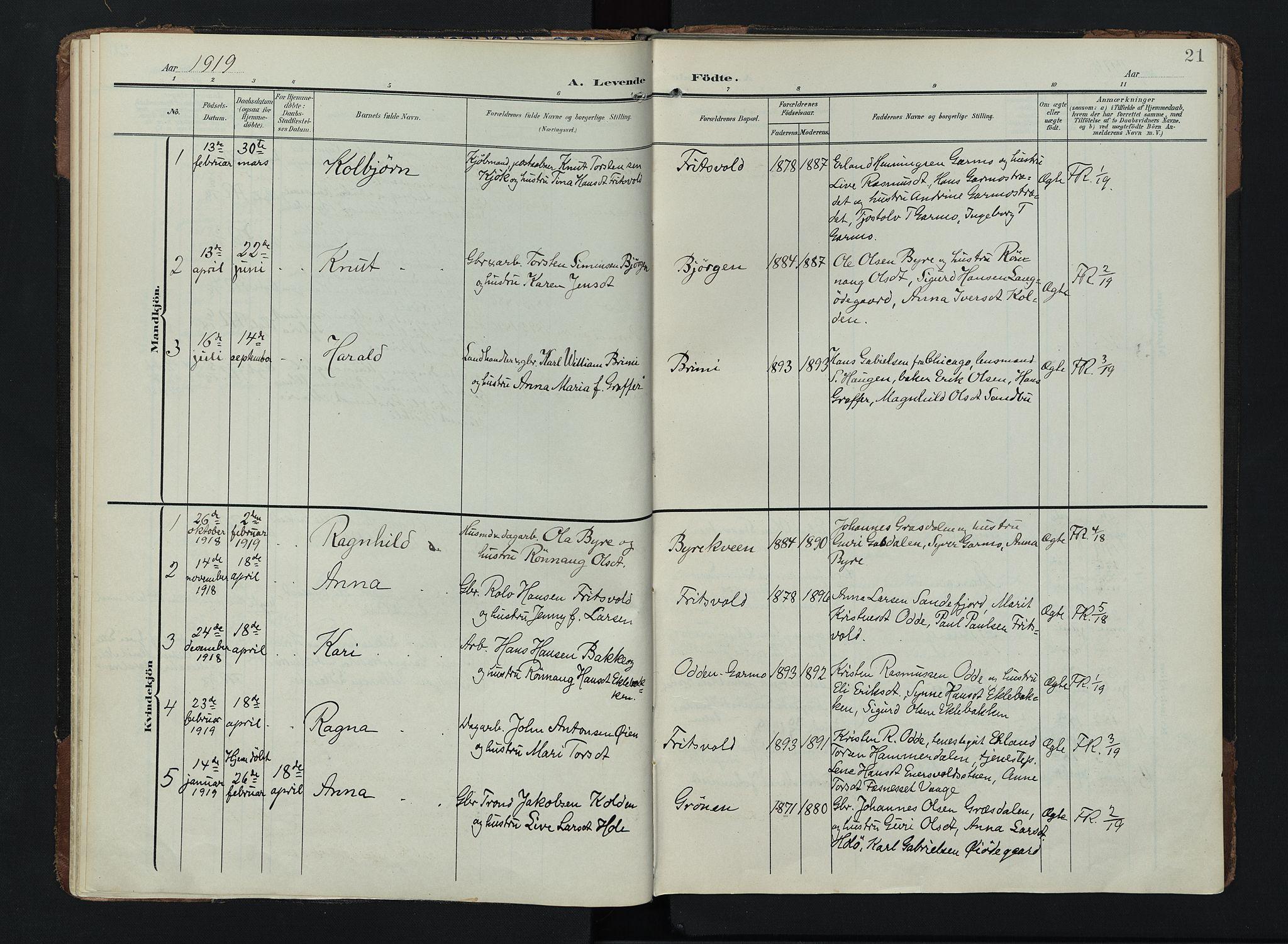 SAH, Lom prestekontor, K/L0011: Ministerialbok nr. 11, 1904-1928, s. 21