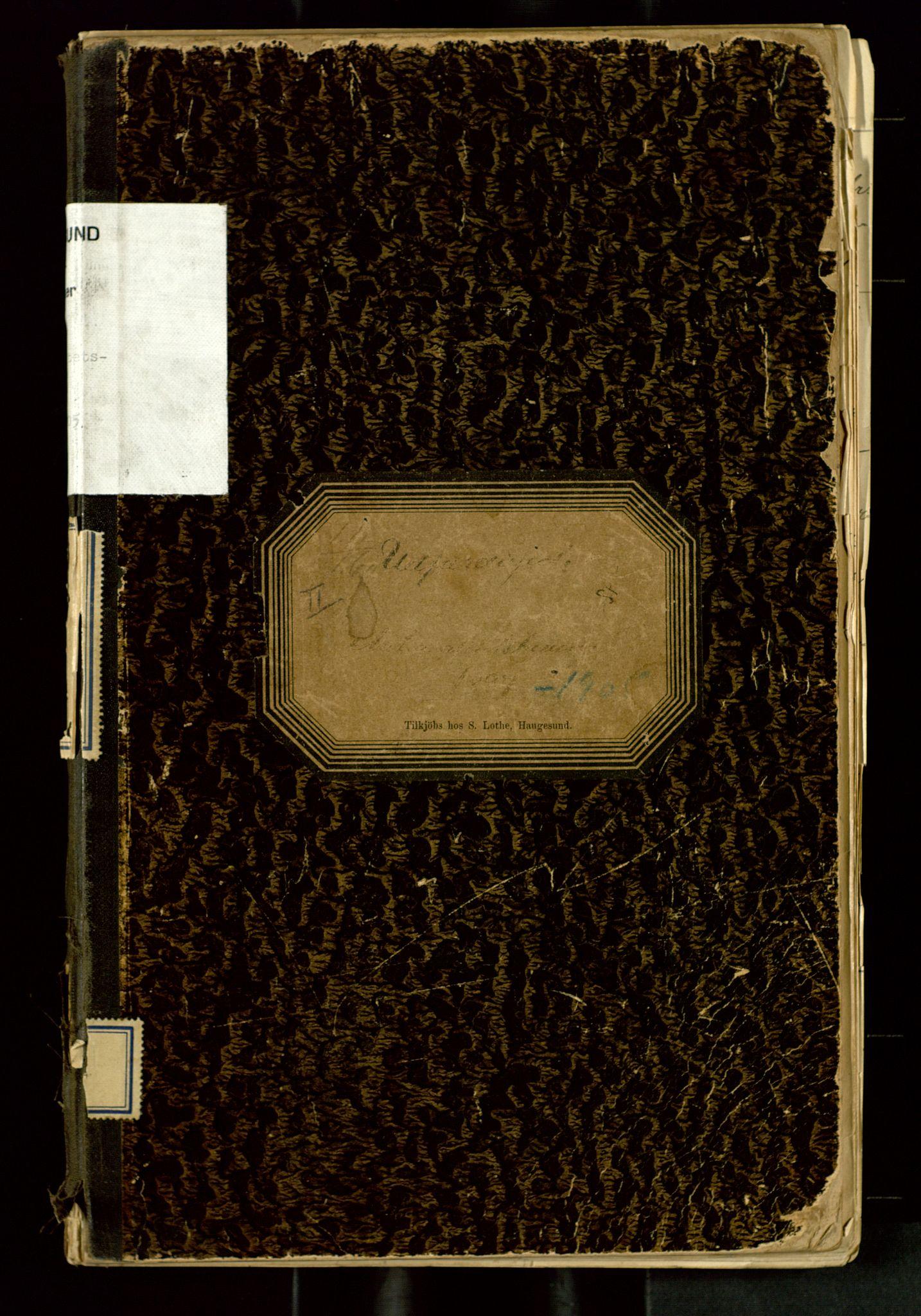SAST, Haugesund tollsted, O/L0260: Nasjonalitetsbeviser, 1897-1905