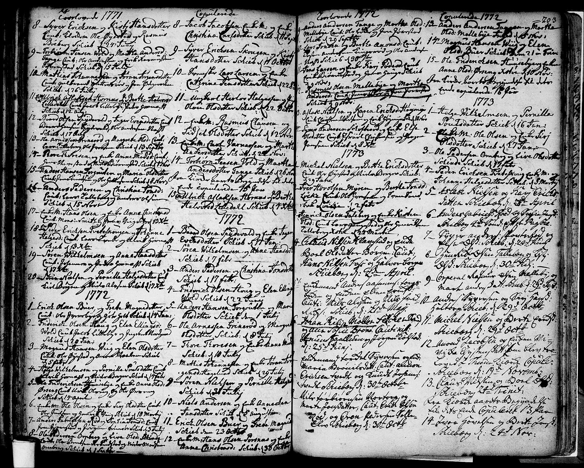 SAO, Skjeberg prestekontor Kirkebøker, F/Fa/L0002: Ministerialbok nr. I 2, 1726-1791, s. 203