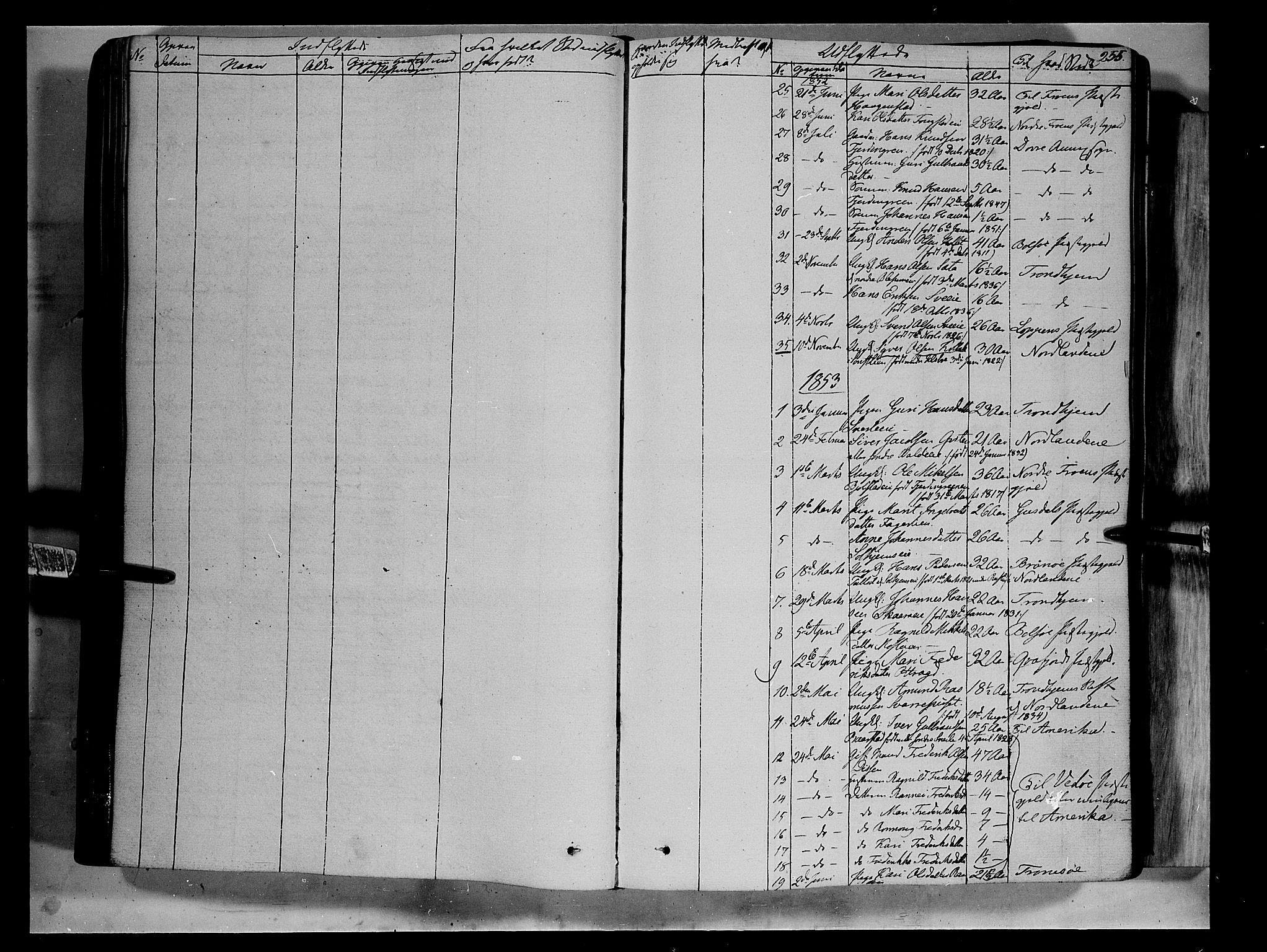 SAH, Vågå prestekontor, Ministerialbok nr. 5 /1, 1842-1856, s. 255