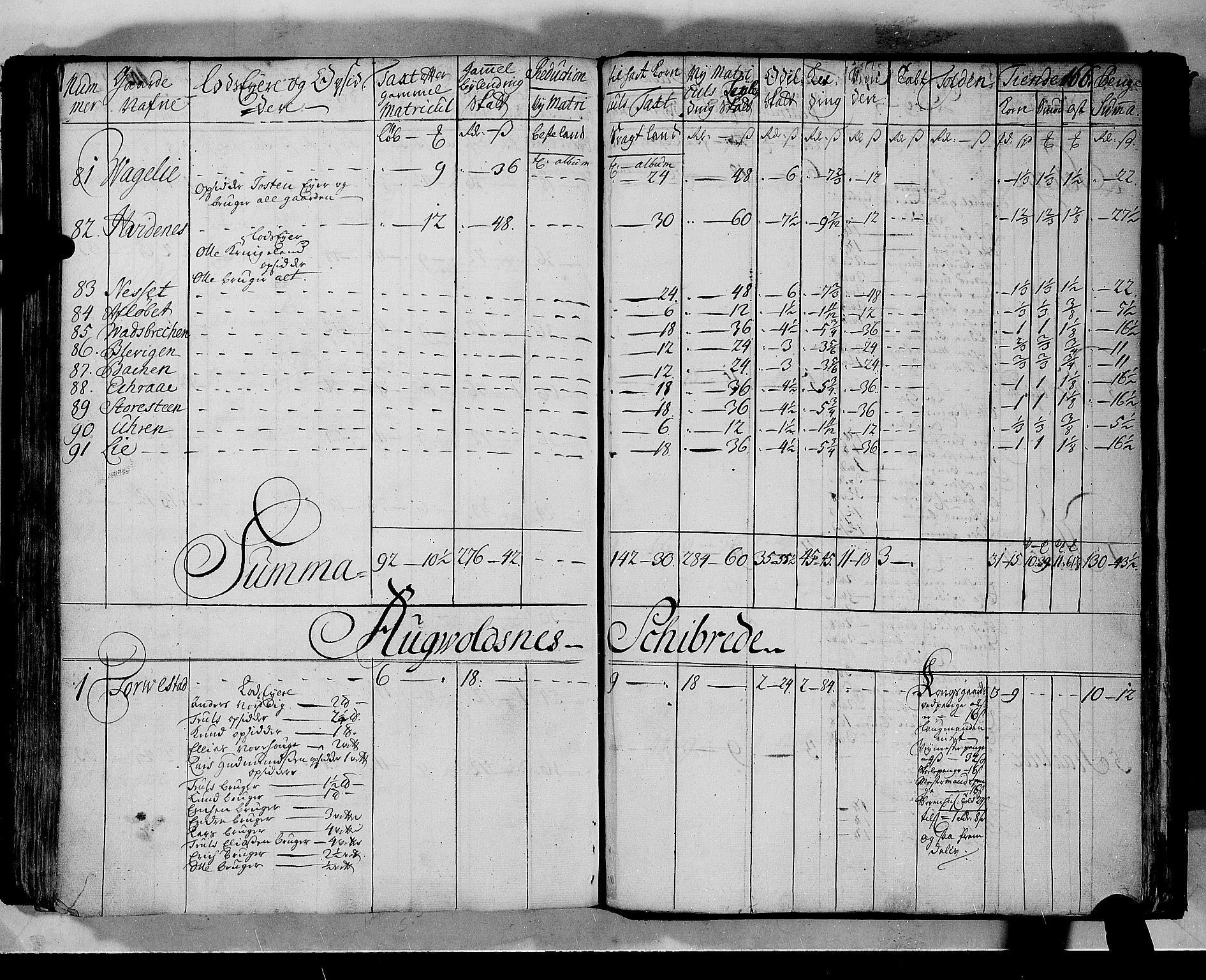 RA, Rentekammeret inntil 1814, Realistisk ordnet avdeling, N/Nb/Nbf/L0133b: Ryfylke matrikkelprotokoll, 1723, s. 165b-166a
