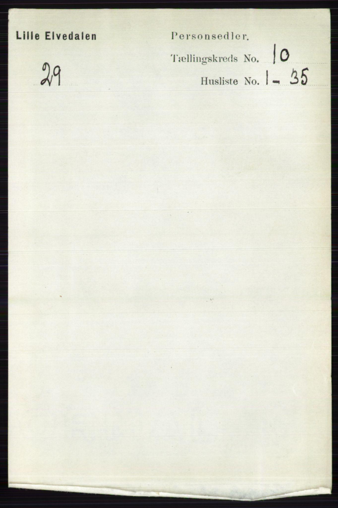 RA, Folketelling 1891 for 0438 Lille Elvedalen herred, 1891, s. 3420