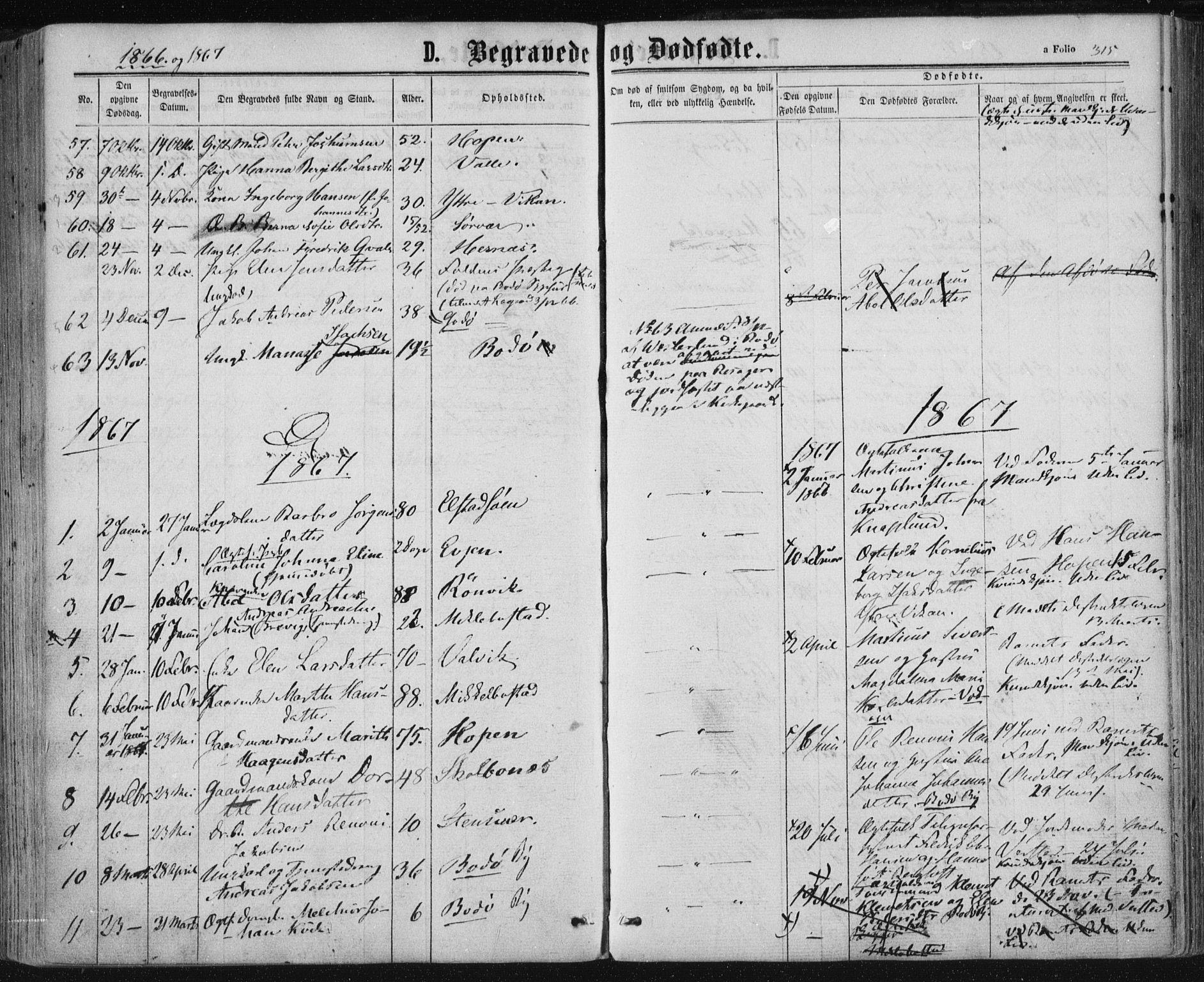 SAT, Ministerialprotokoller, klokkerbøker og fødselsregistre - Nordland, 801/L0008: Ministerialbok nr. 801A08, 1864-1875, s. 315