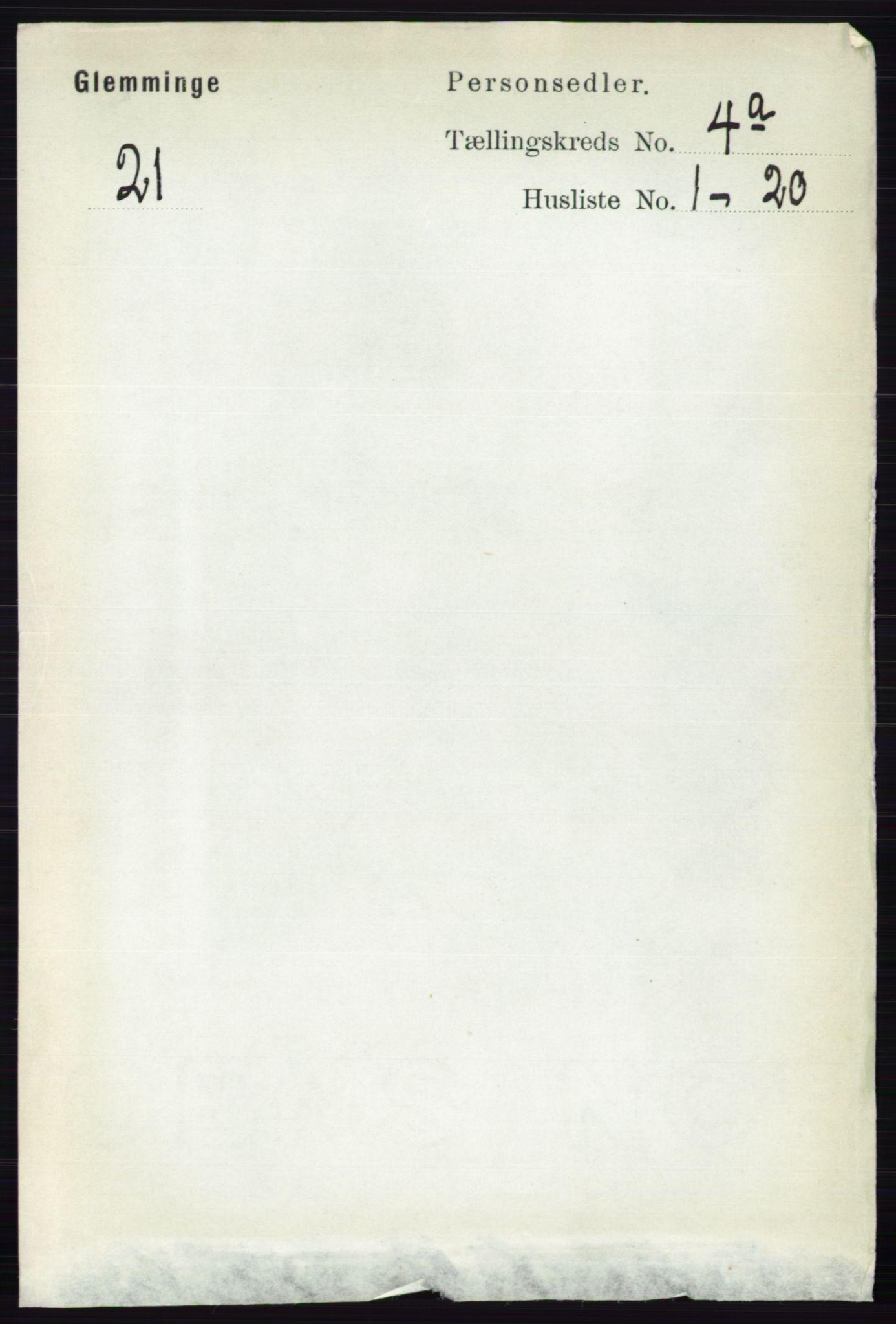 RA, Folketelling 1891 for 0132 Glemmen herred, 1891, s. 3470