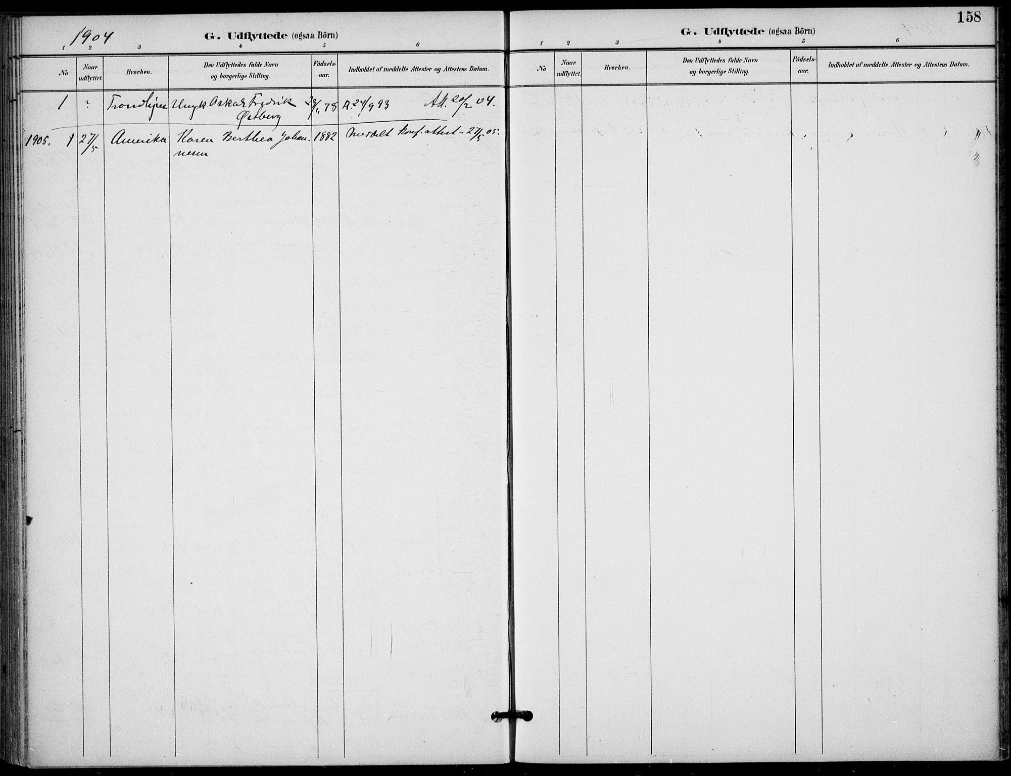 SAKO, Langesund kirkebøker, F/Fa/L0003: Ministerialbok nr. 3, 1893-1907, s. 158