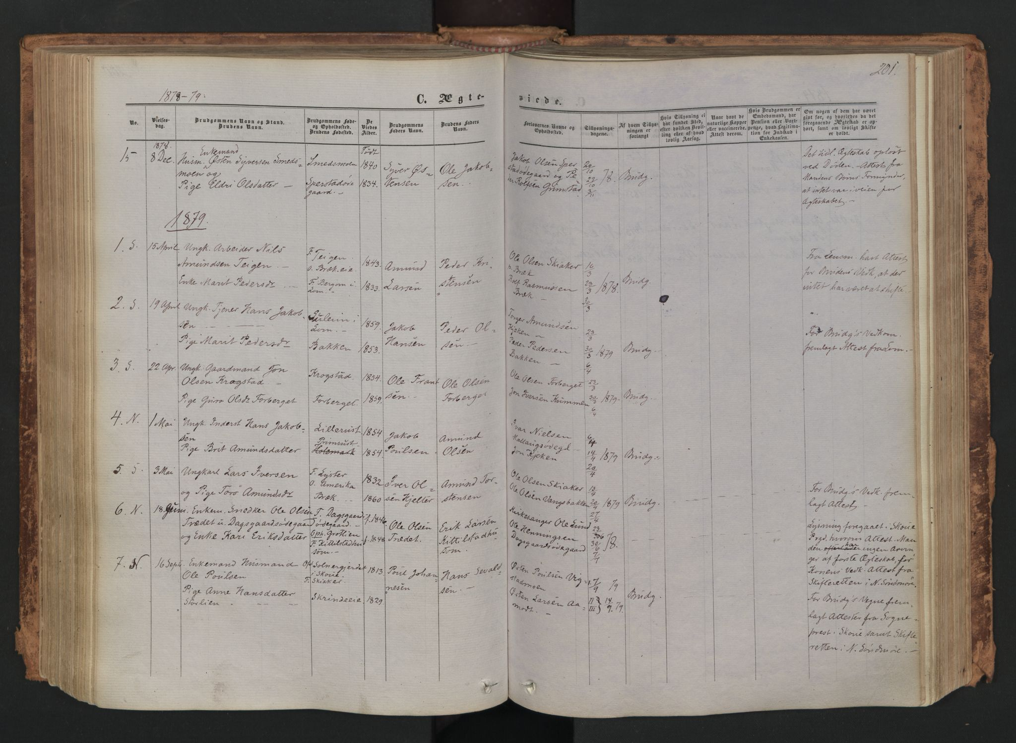 SAH, Skjåk prestekontor, Ministerialbok nr. 1, 1863-1879, s. 201