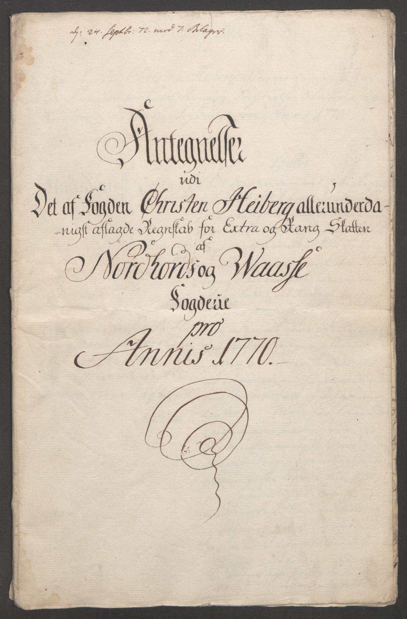 RA, Rentekammeret inntil 1814, Reviderte regnskaper, Fogderegnskap, R51/L3303: Ekstraskatten Nordhordland og Voss, 1762-1772, s. 632