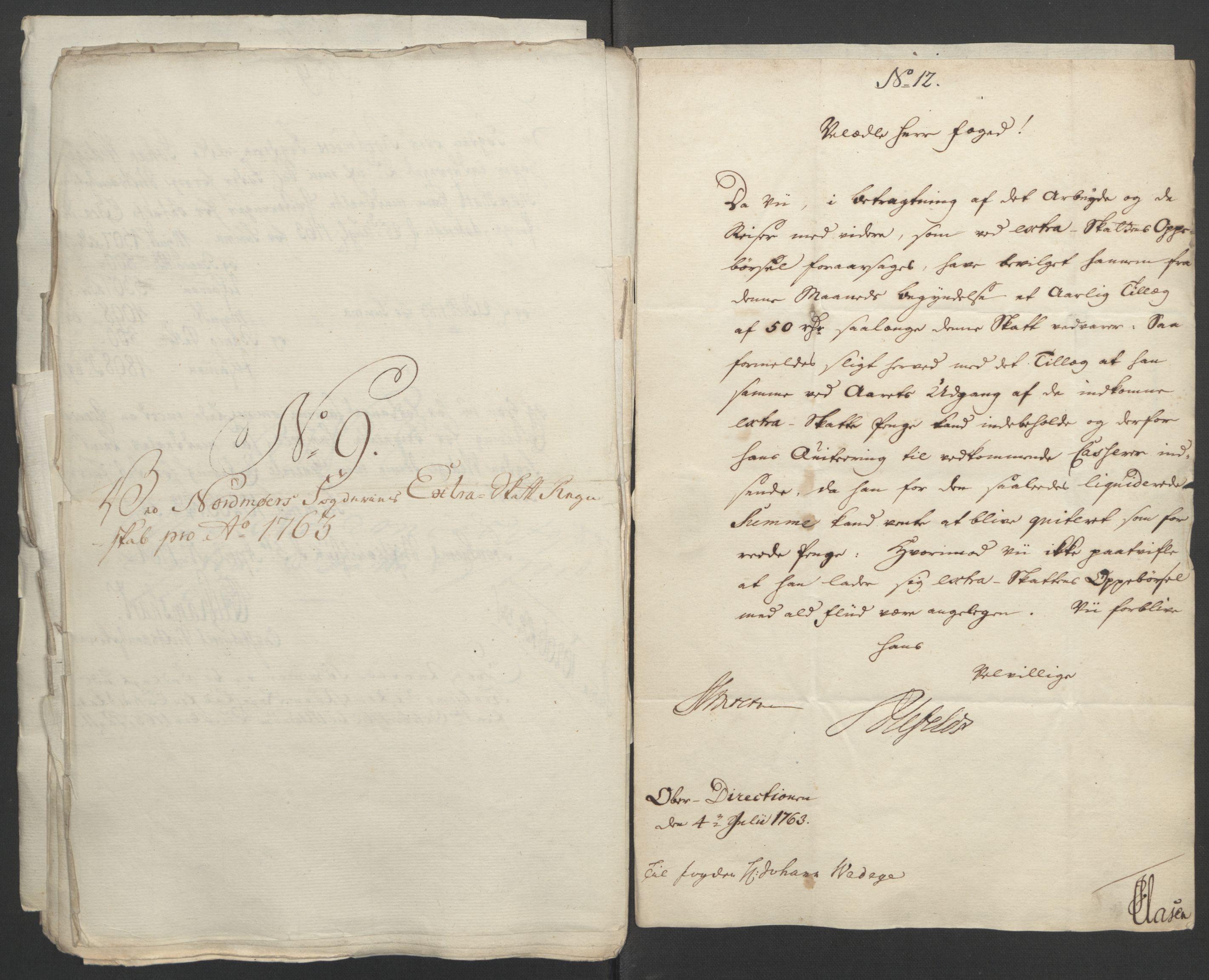 RA, Rentekammeret inntil 1814, Reviderte regnskaper, Fogderegnskap, R56/L3841: Ekstraskatten Nordmøre, 1762-1763, s. 346