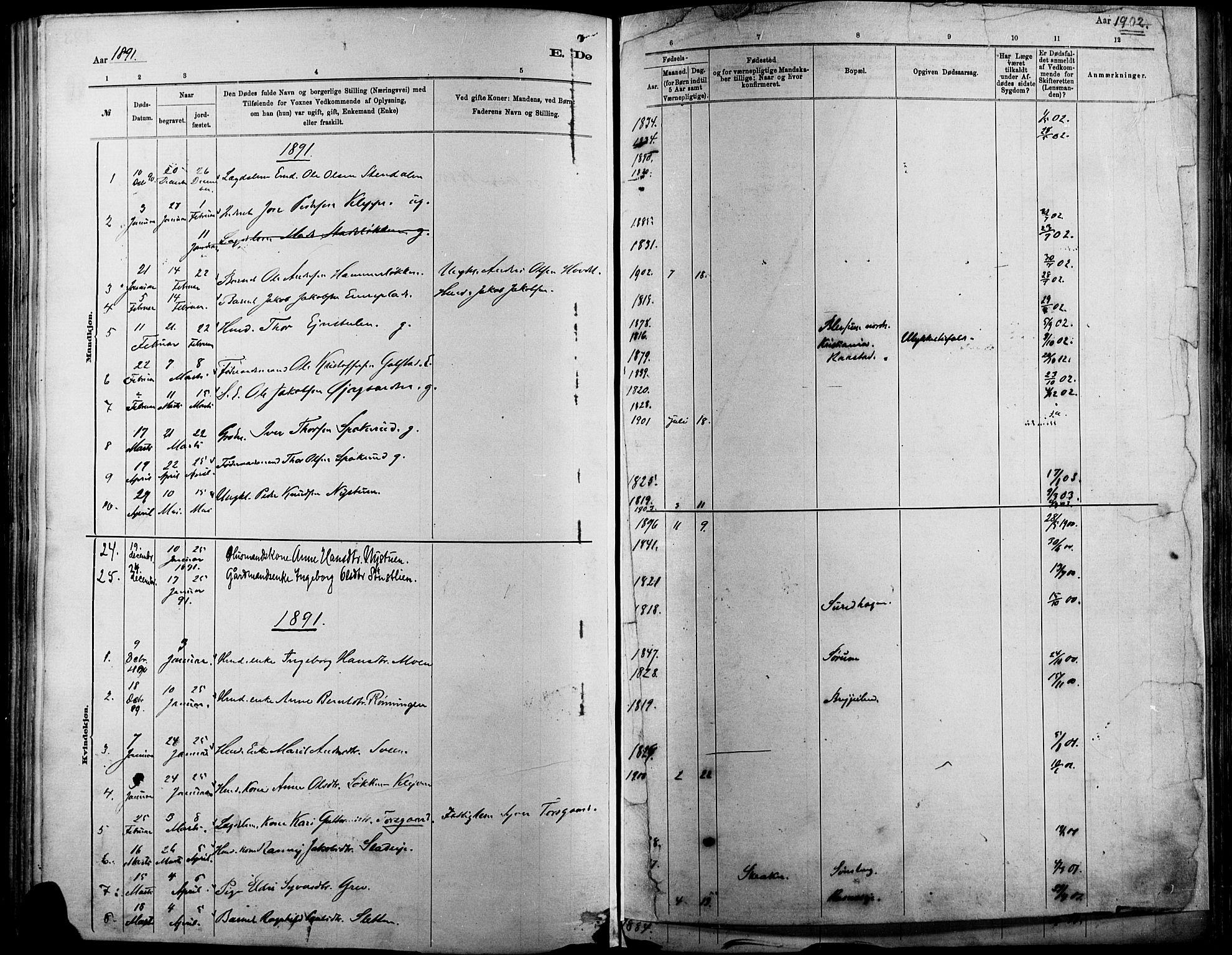 SAH, Vågå prestekontor, Ministerialbok nr. 9, 1886-1904, s. 194