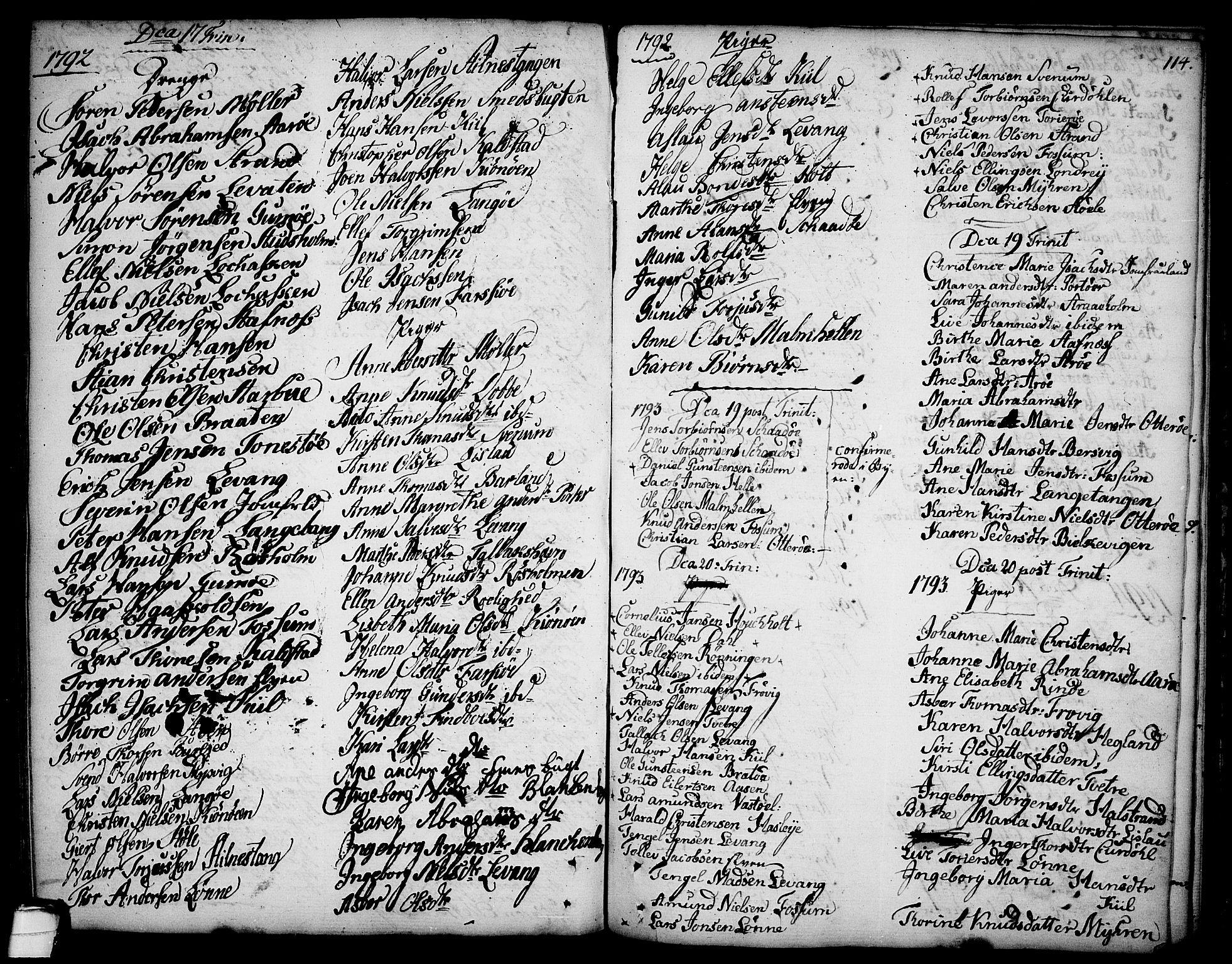 SAKO, Sannidal kirkebøker, F/Fa/L0002: Ministerialbok nr. 2, 1767-1802, s. 114
