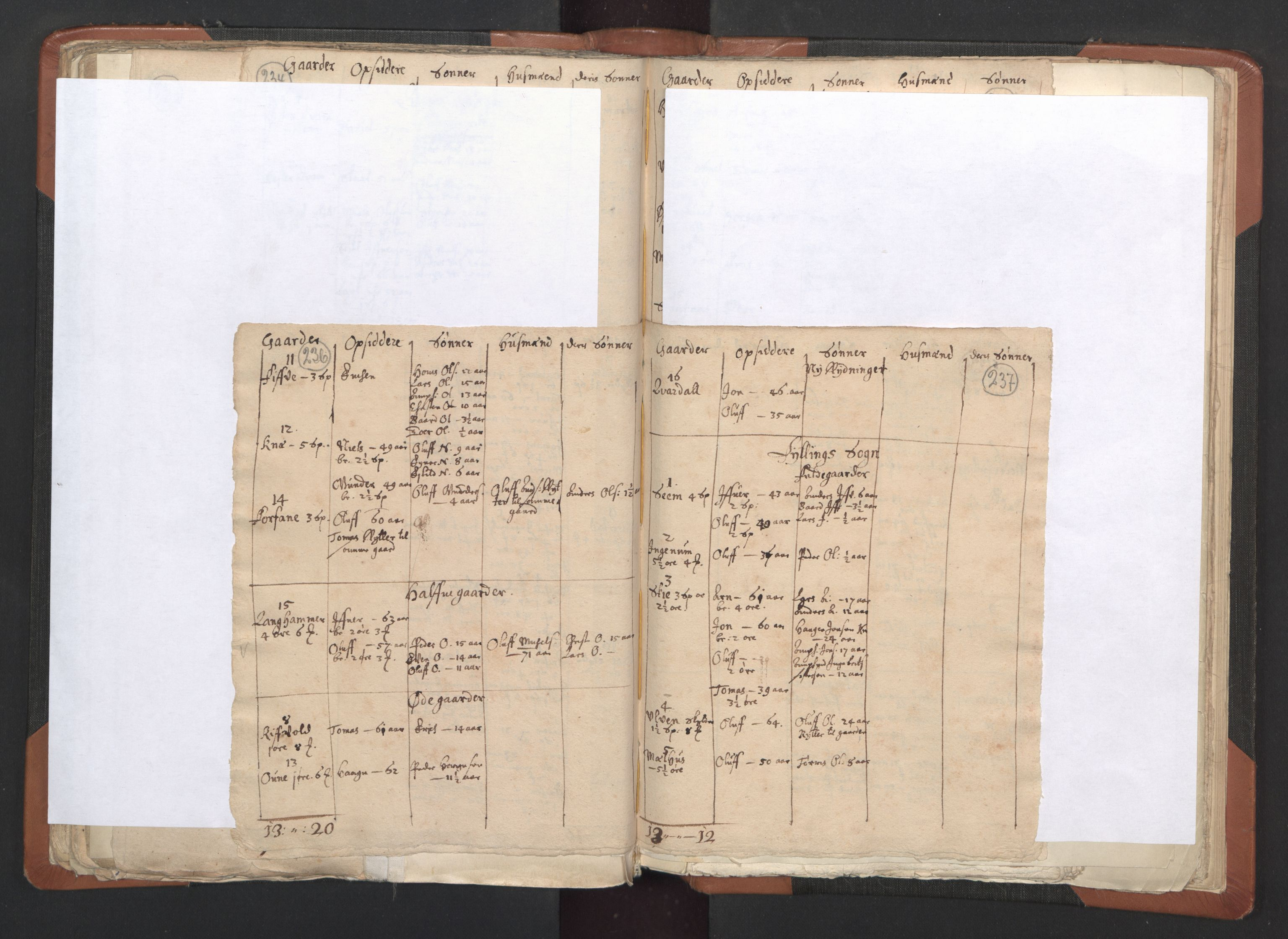 RA, Sogneprestenes manntall 1664-1666, nr. 33: Innherad prosti, 1664-1666, s. 236-237
