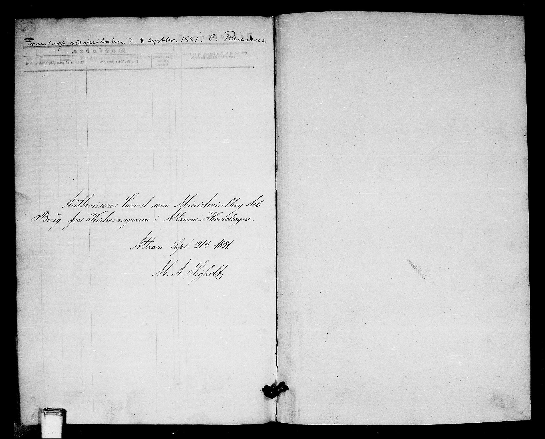 SAKO, Tinn kirkebøker, G/Ga/L0002: Klokkerbok nr. I 2, 1851-1883