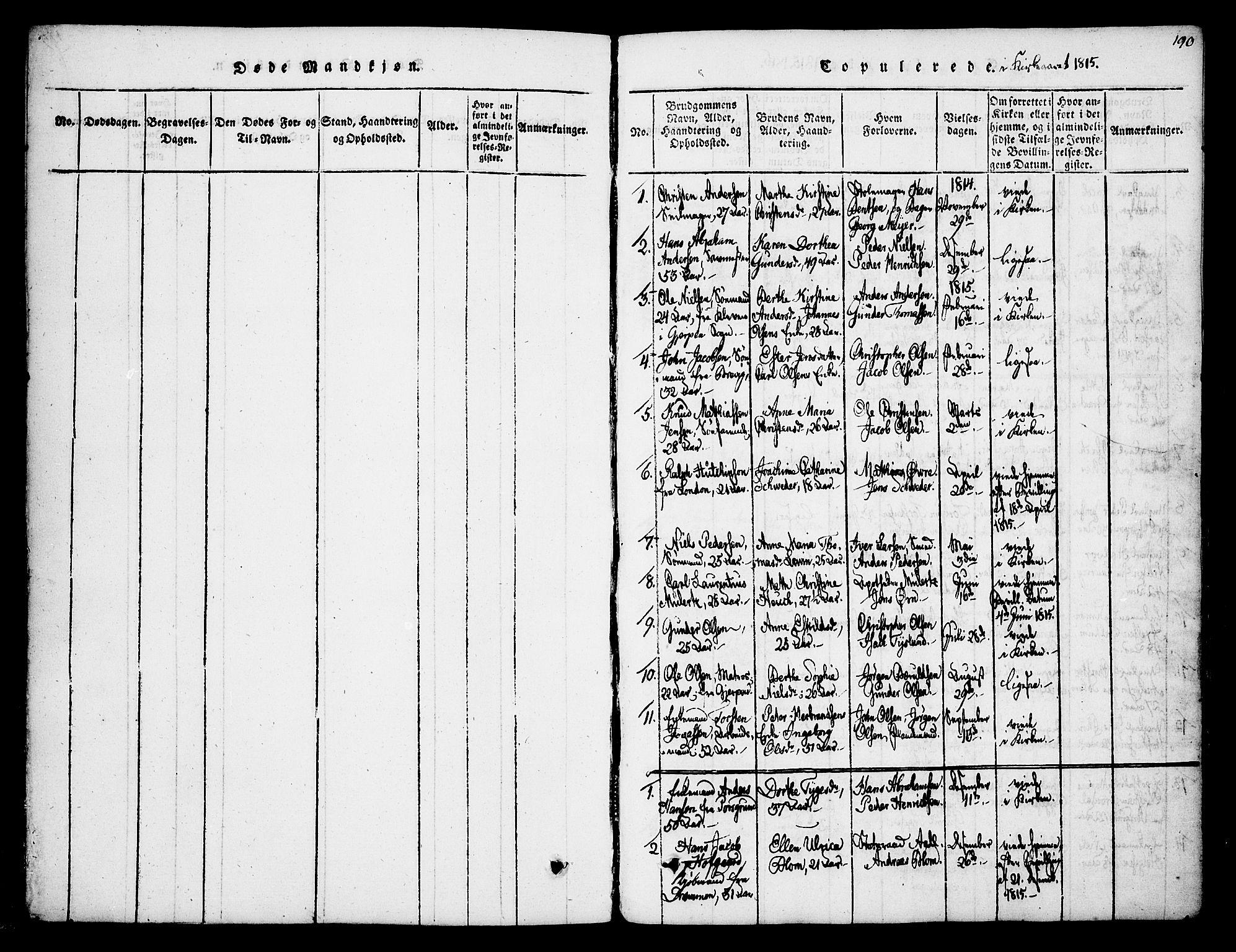 SAKO, Skien kirkebøker, F/Fa/L0005: Ministerialbok nr. 5, 1814-1843, s. 190