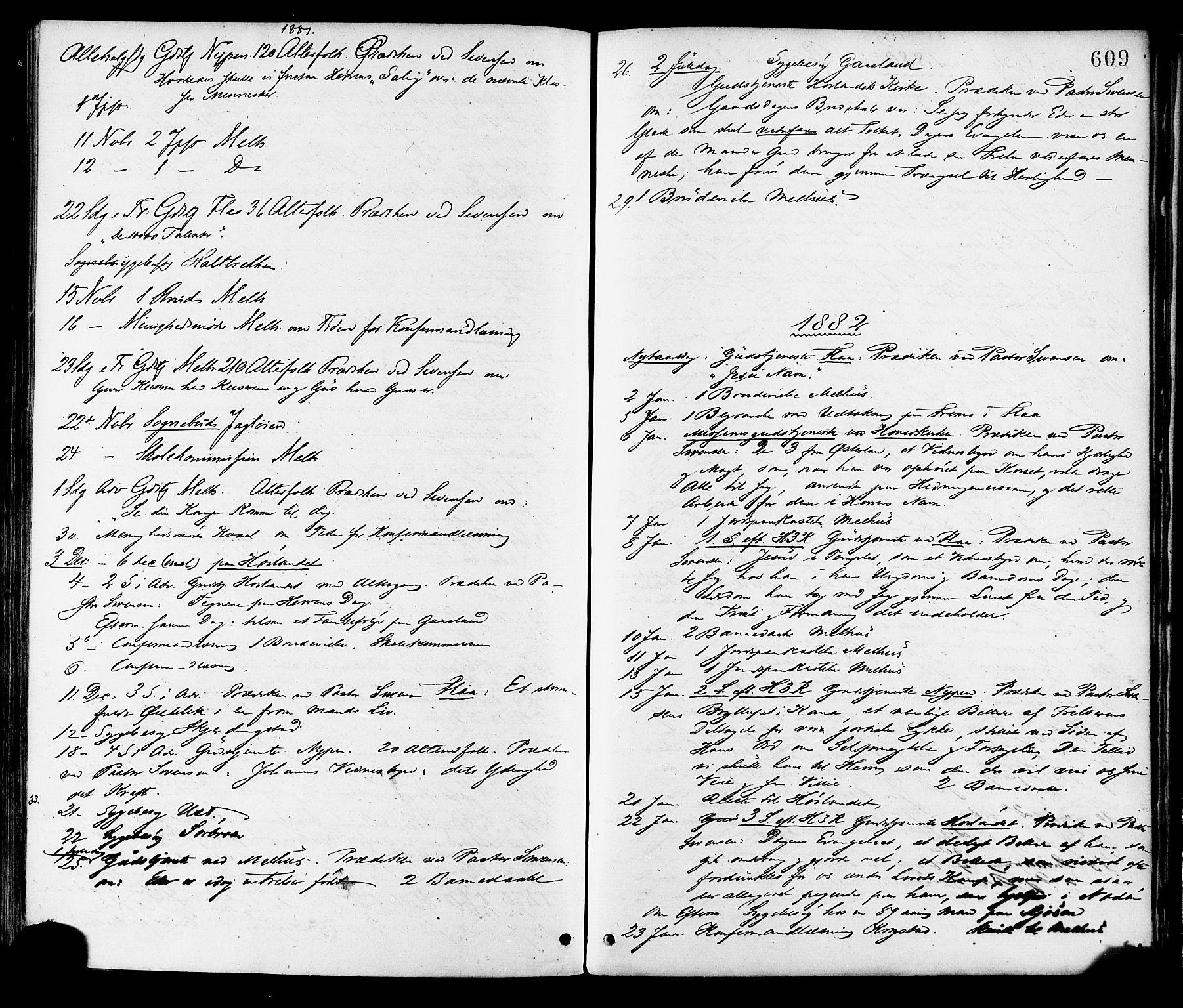 SAT, Ministerialprotokoller, klokkerbøker og fødselsregistre - Sør-Trøndelag, 691/L1079: Ministerialbok nr. 691A11, 1873-1886, s. 609