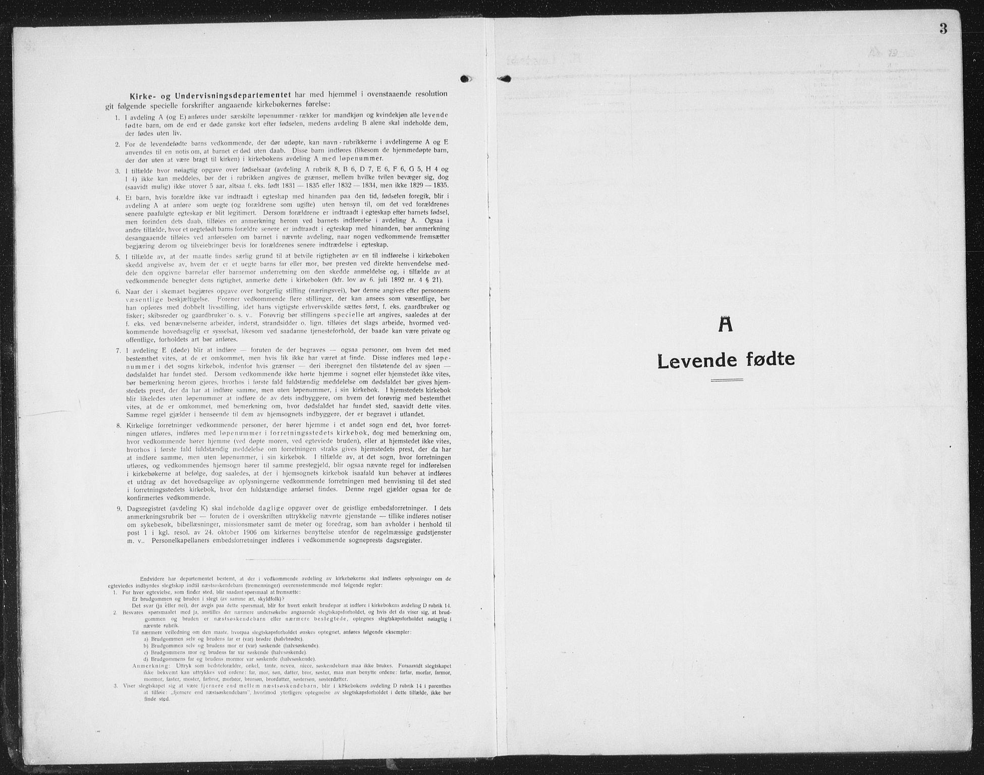 SAT, Ministerialprotokoller, klokkerbøker og fødselsregistre - Sør-Trøndelag, 695/L1158: Klokkerbok nr. 695C09, 1913-1940, s. 3