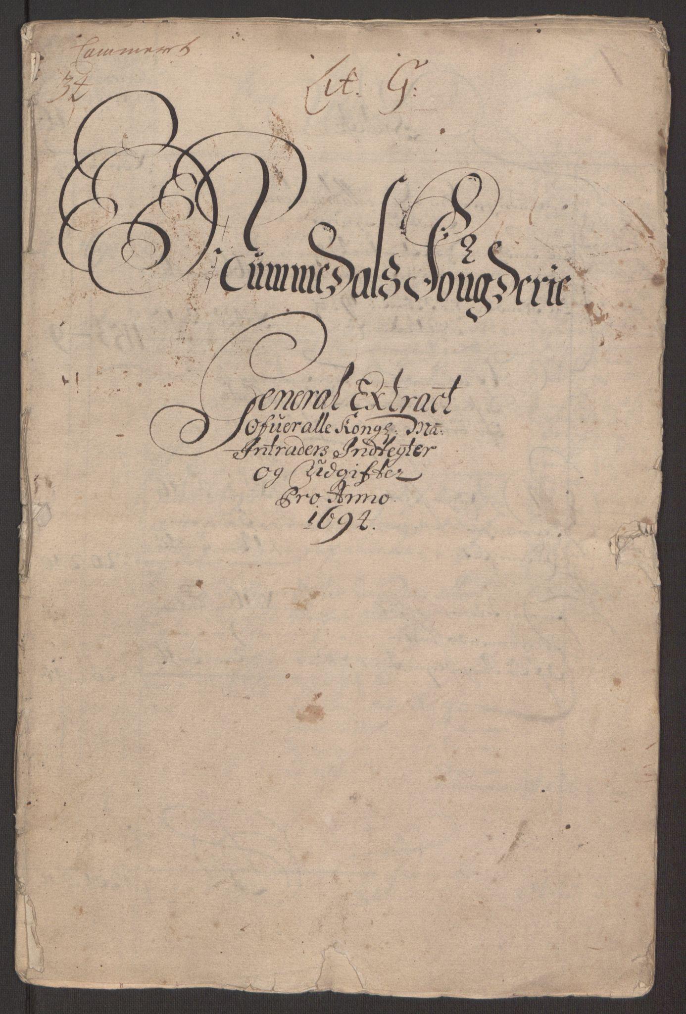 RA, Rentekammeret inntil 1814, Reviderte regnskaper, Fogderegnskap, R64/L4424: Fogderegnskap Namdal, 1692-1695, s. 332