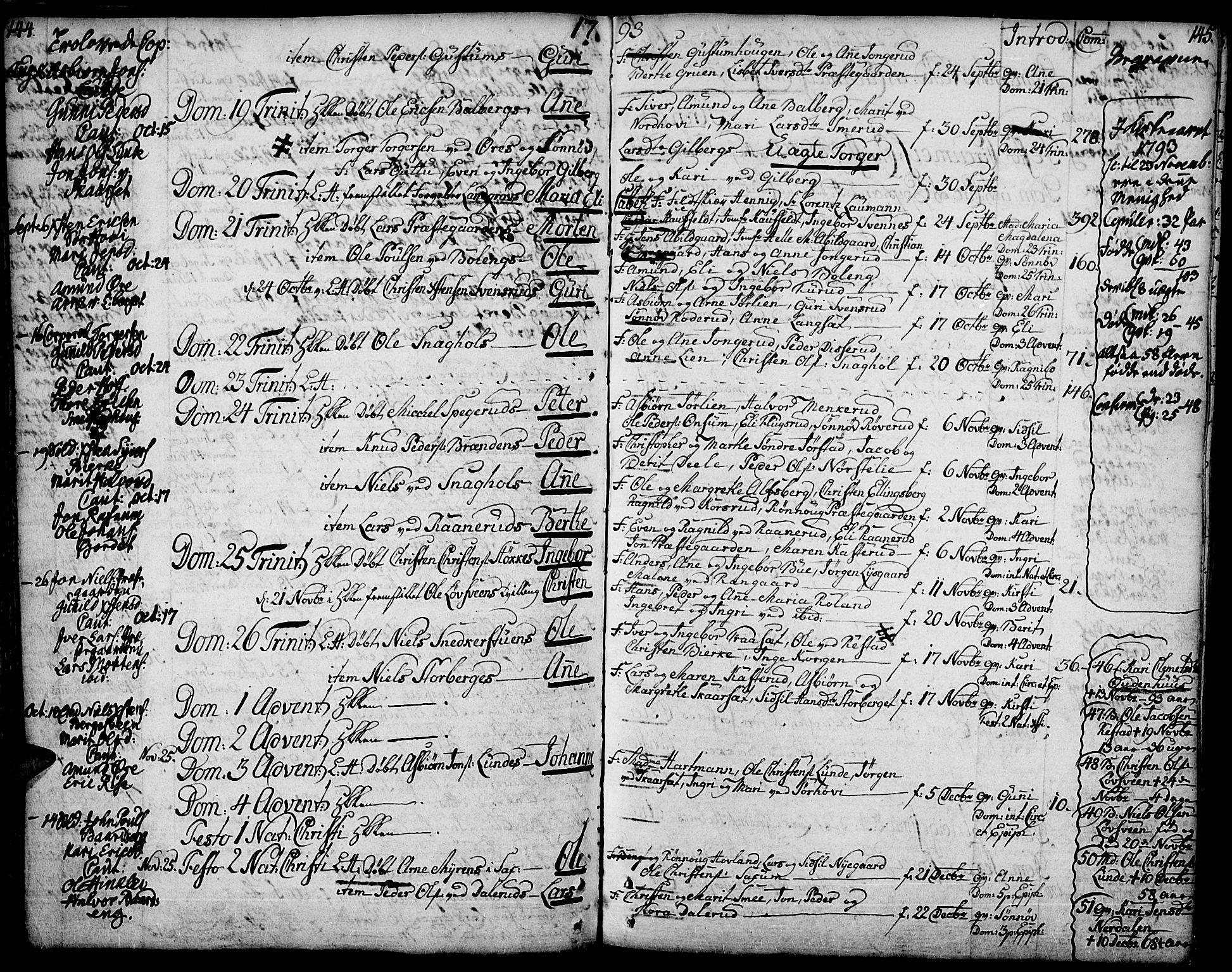 SAH, Fåberg prestekontor, Ministerialbok nr. 2, 1775-1818, s. 144-145