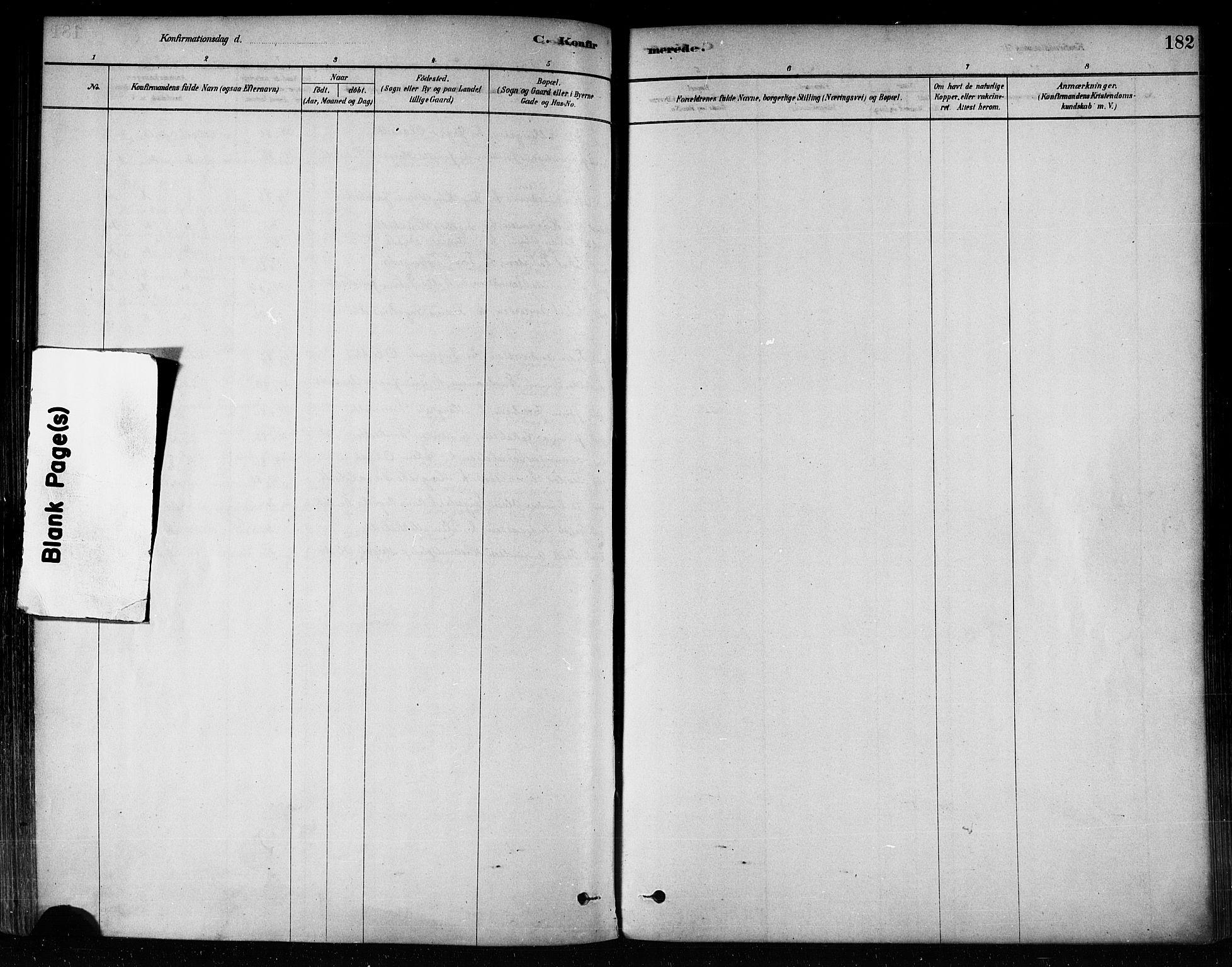 SAT, Ministerialprotokoller, klokkerbøker og fødselsregistre - Nord-Trøndelag, 746/L0449: Ministerialbok nr. 746A07 /2, 1878-1899, s. 182