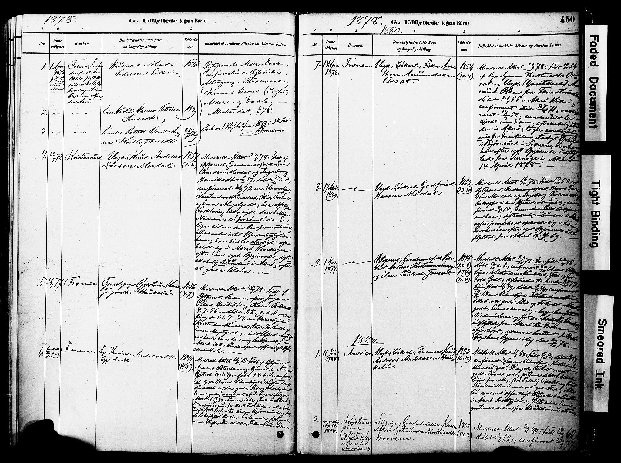 SAT, Ministerialprotokoller, klokkerbøker og fødselsregistre - Møre og Romsdal, 560/L0721: Ministerialbok nr. 560A05, 1878-1917, s. 450
