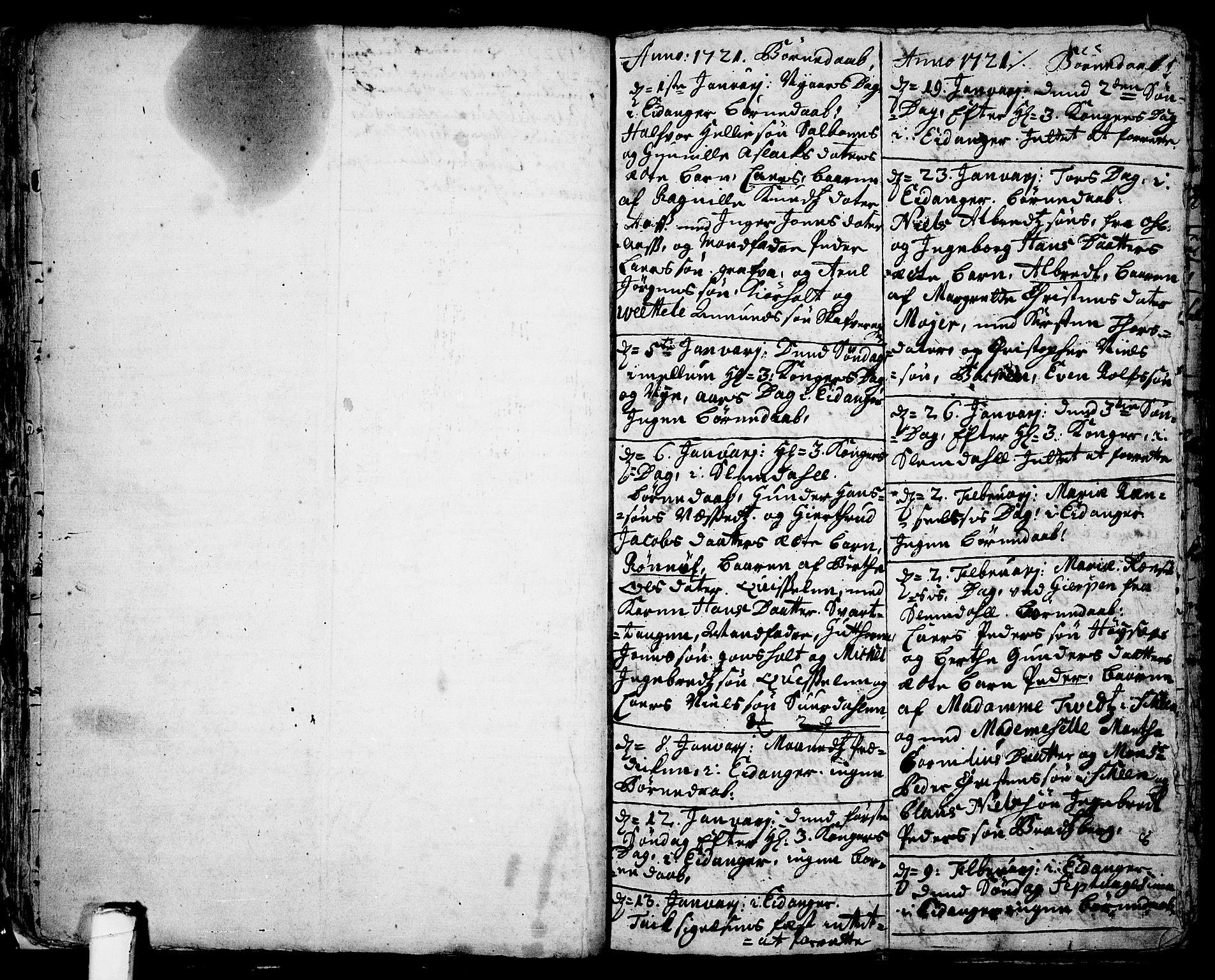 SAKO, Eidanger kirkebøker, F/Fa/L0003: Ministerialbok nr. 3, 1719-1732