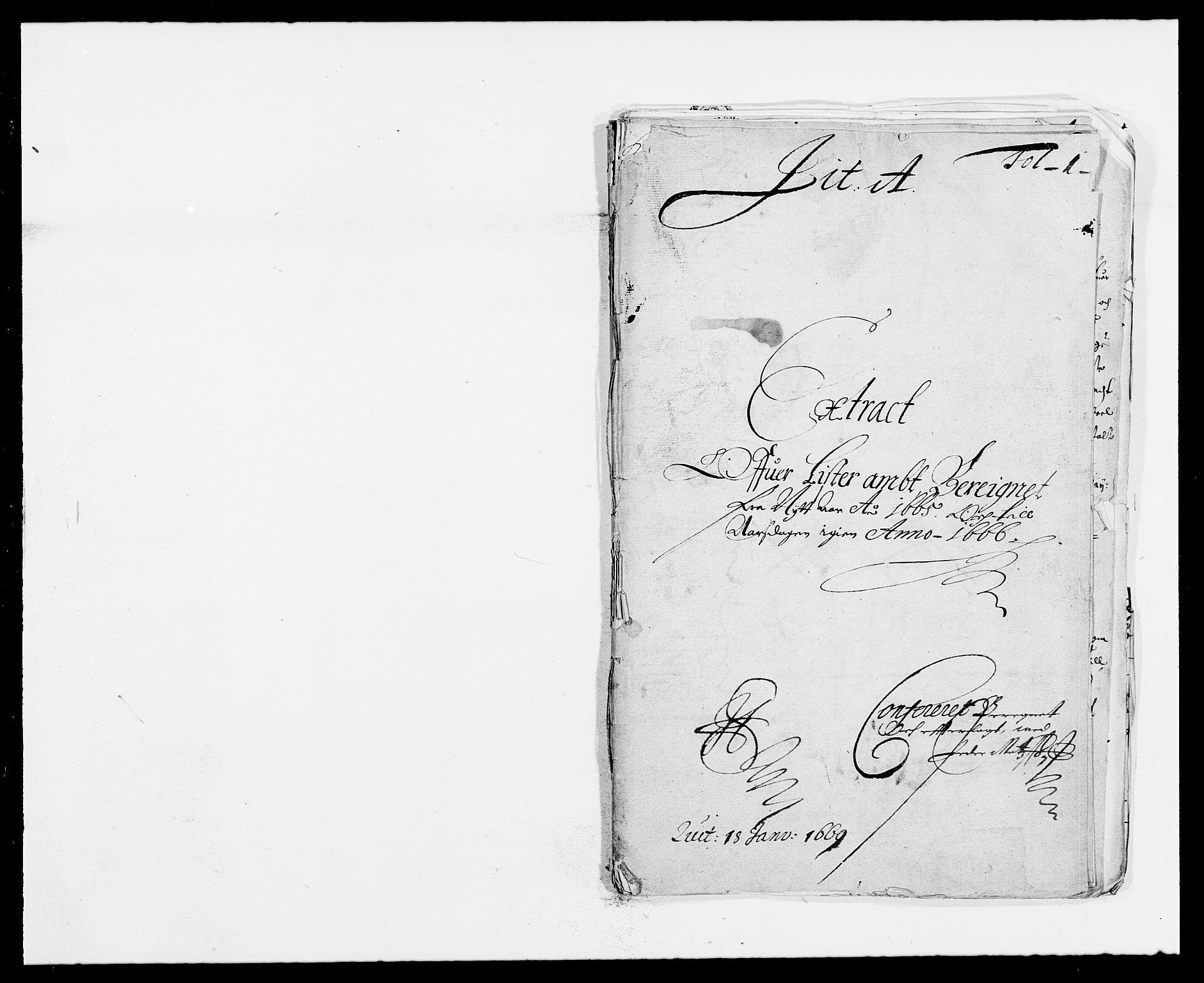 RA, Rentekammeret inntil 1814, Reviderte regnskaper, Fogderegnskap, R41/L2524: Fogderegnskap Lista, 1665-1668, s. 1