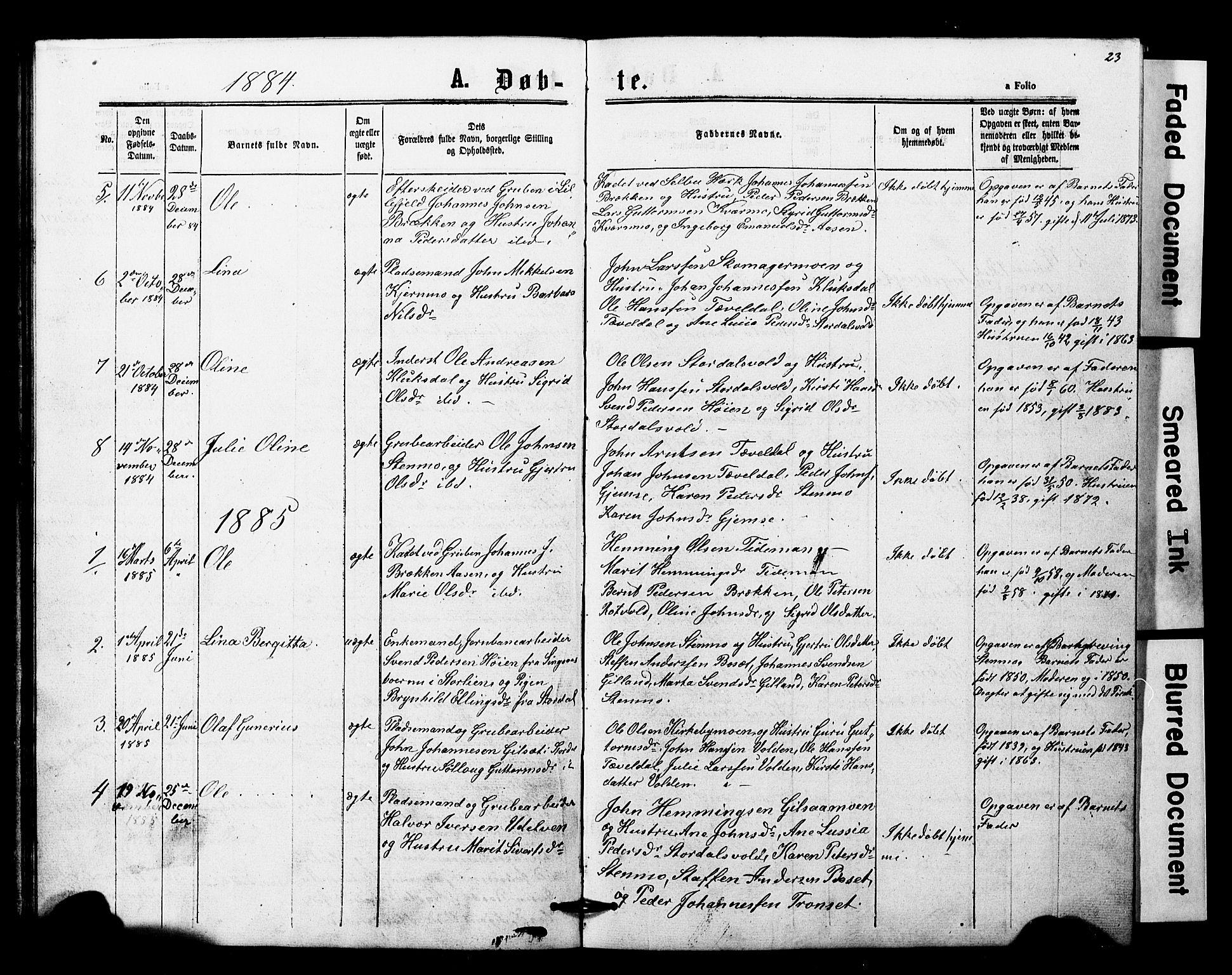 SAT, Ministerialprotokoller, klokkerbøker og fødselsregistre - Nord-Trøndelag, 707/L0052: Klokkerbok nr. 707C01, 1864-1897, s. 23