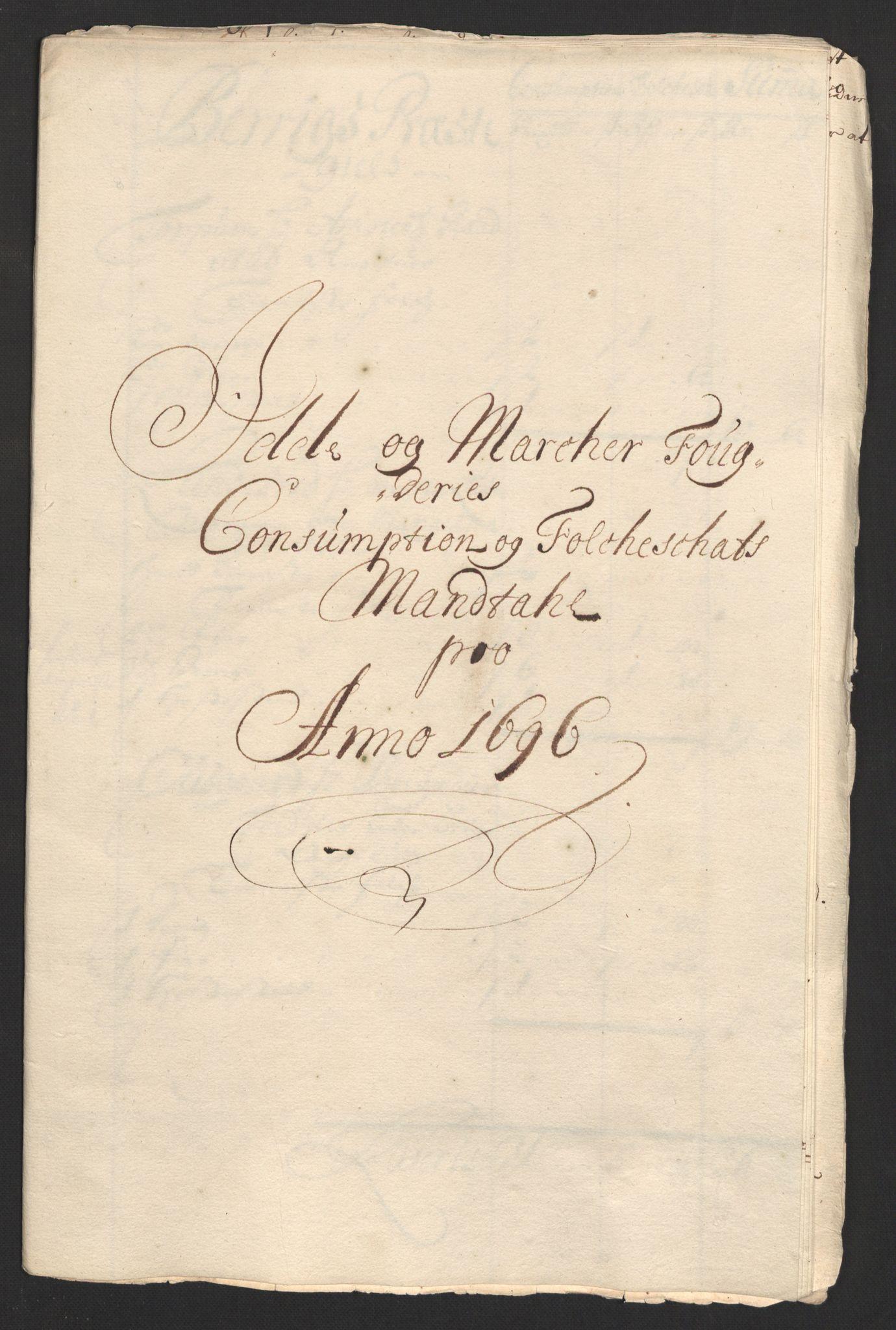 RA, Rentekammeret inntil 1814, Reviderte regnskaper, Fogderegnskap, R01/L0013: Fogderegnskap Idd og Marker, 1696-1698, s. 121