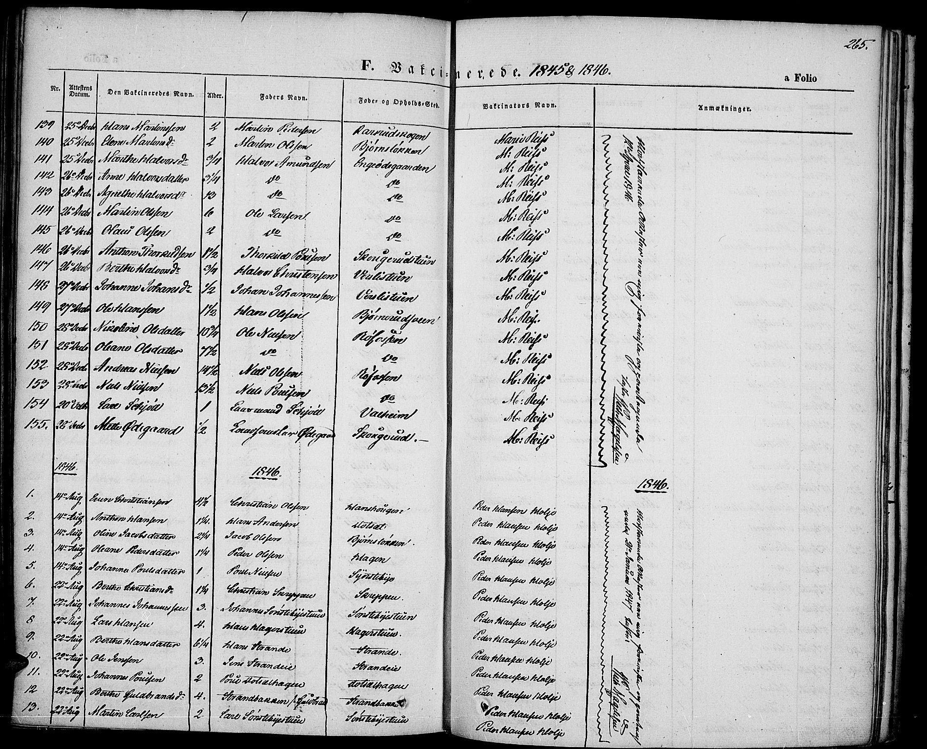 SAH, Vestre Toten prestekontor, Ministerialbok nr. 4, 1844-1849, s. 265