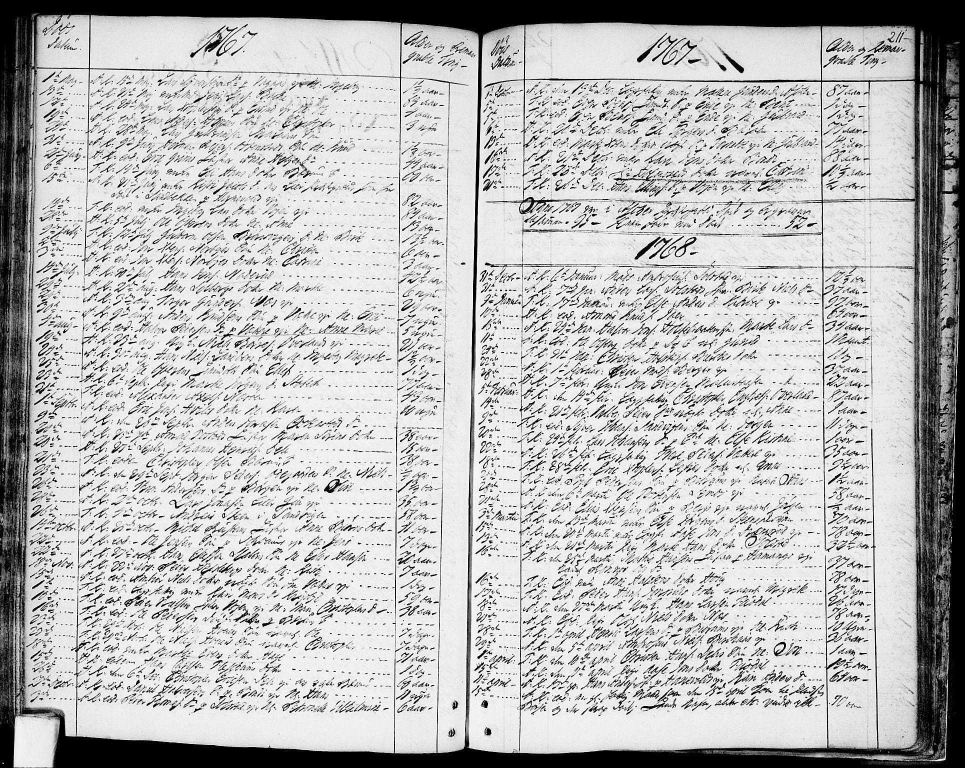 SAO, Asker prestekontor Kirkebøker, F/Fa/L0003: Ministerialbok nr. I 3, 1767-1807, s. 211