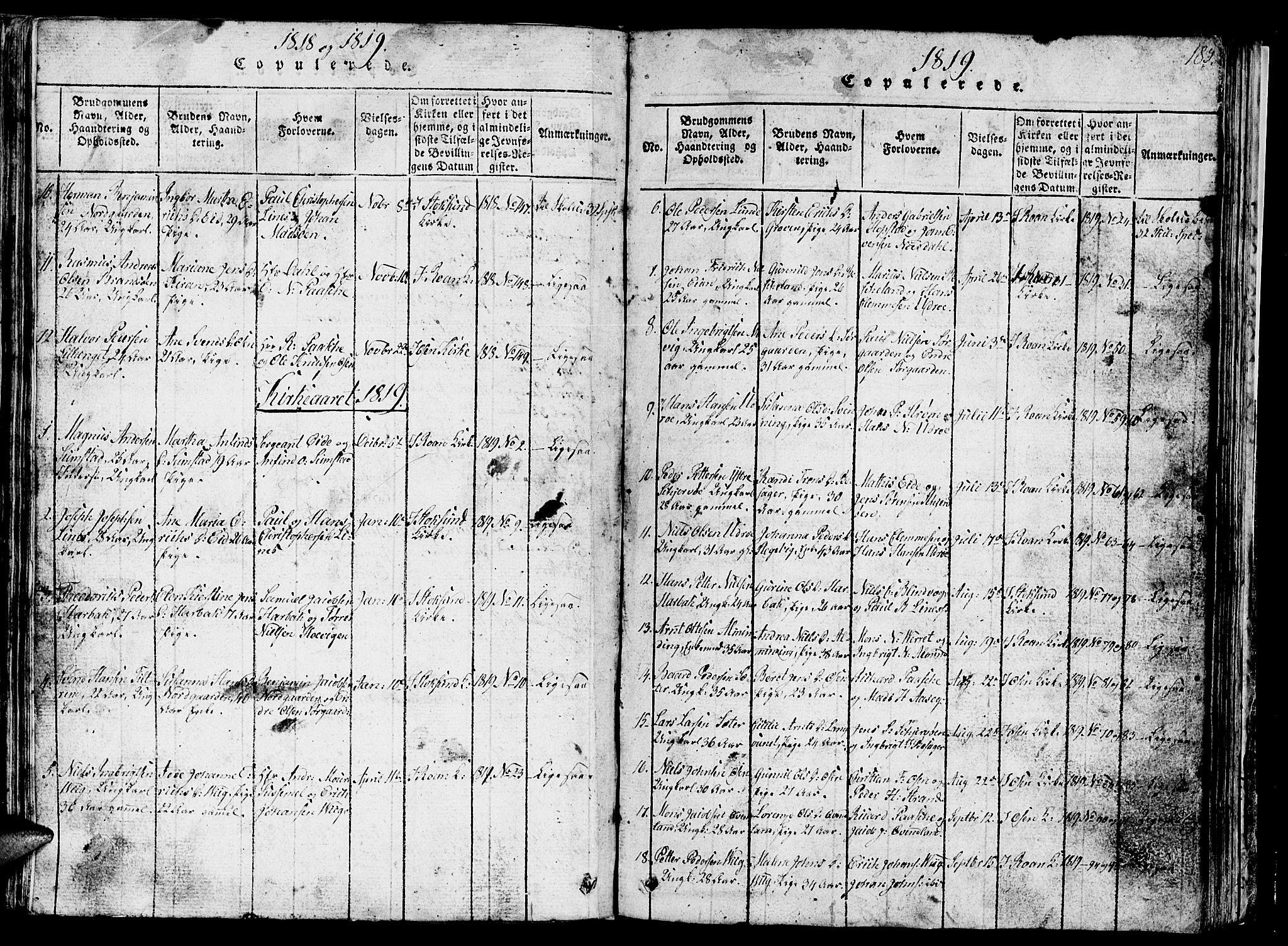 SAT, Ministerialprotokoller, klokkerbøker og fødselsregistre - Sør-Trøndelag, 657/L0714: Klokkerbok nr. 657C01, 1818-1868, s. 185