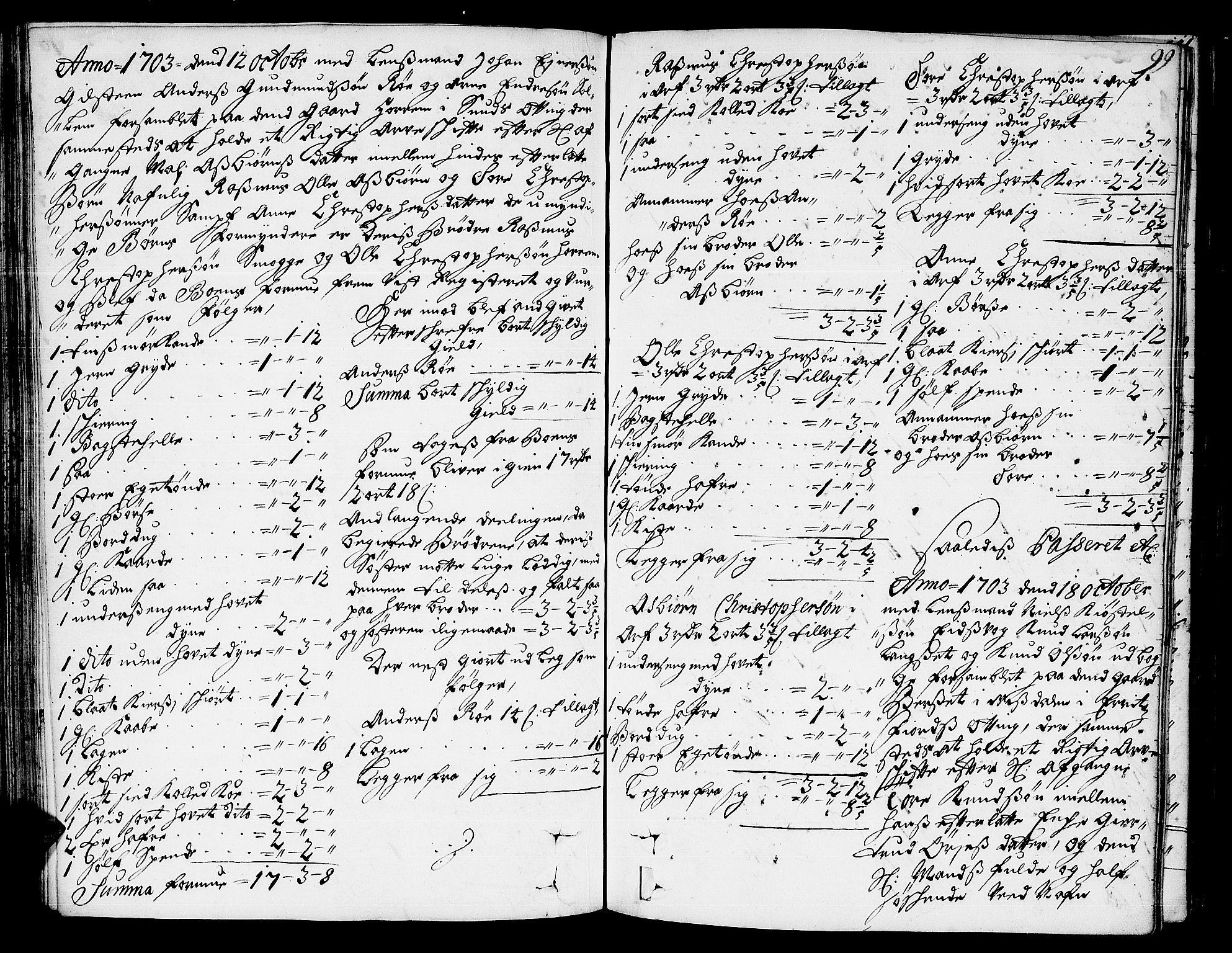 SAT, Romsdal sorenskriveri, 3/3A/L0004: Skifteprotokoll, 1702-1706, s. 98b-99a